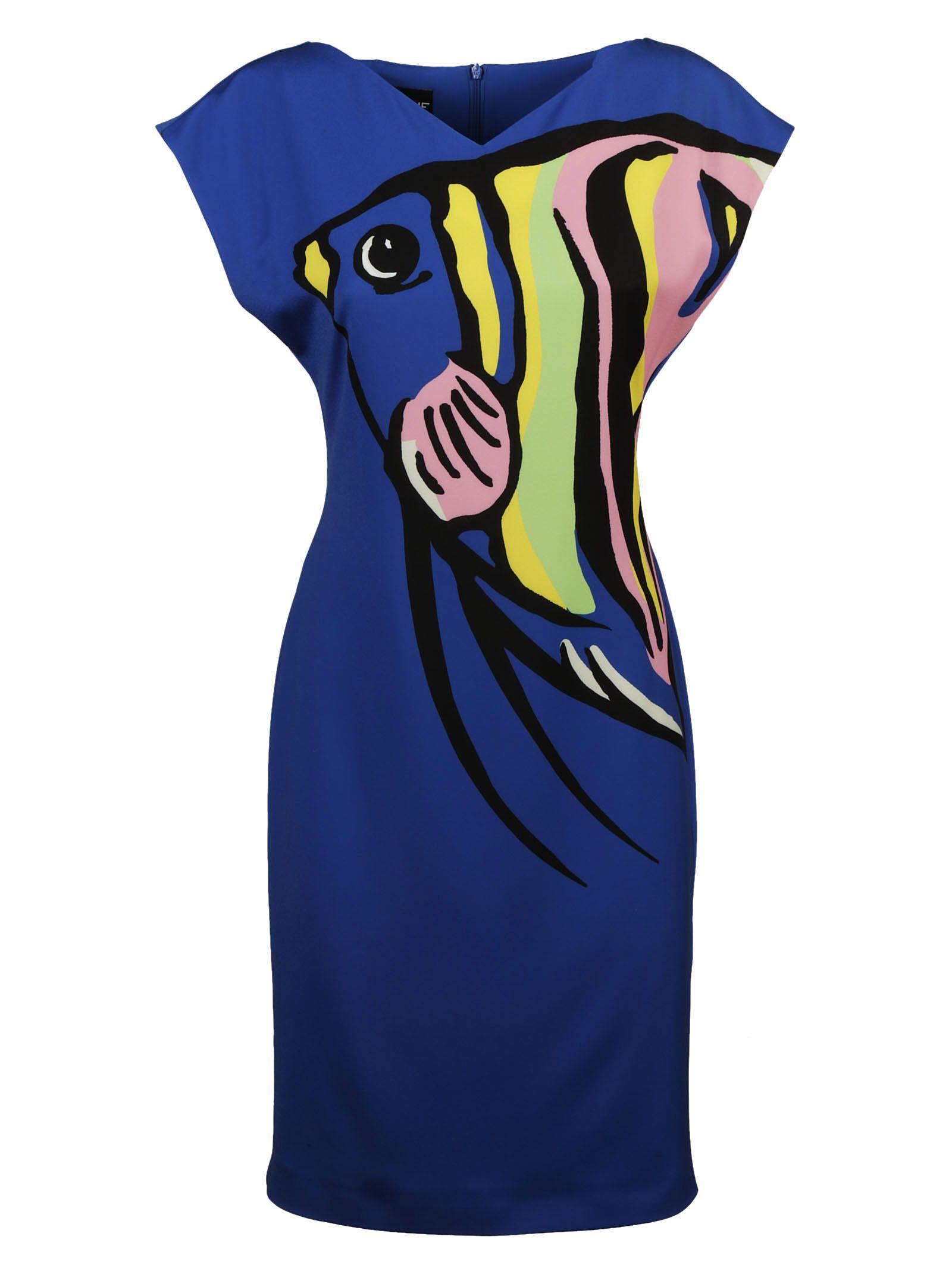 Moschino Fish Print Dress