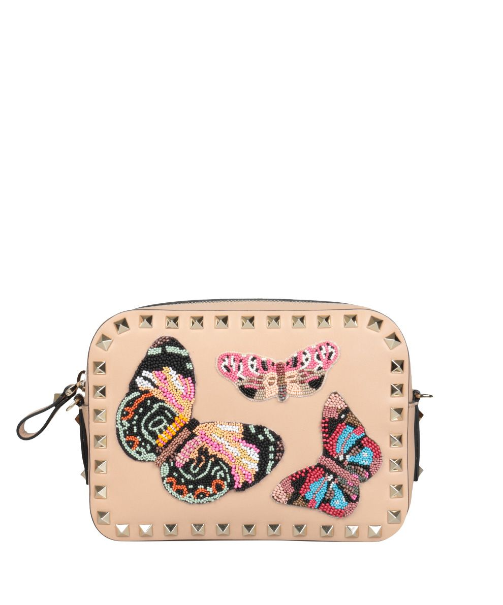 Valentino Garavani Camera Embroidered Leather Bag