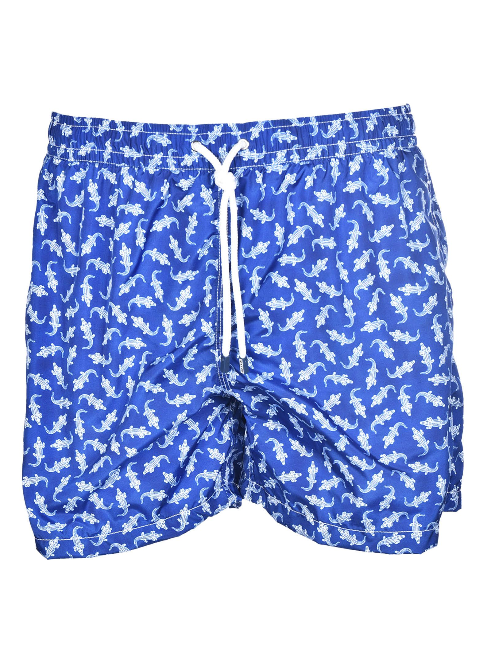 Fedeli Printed Swim Shorts