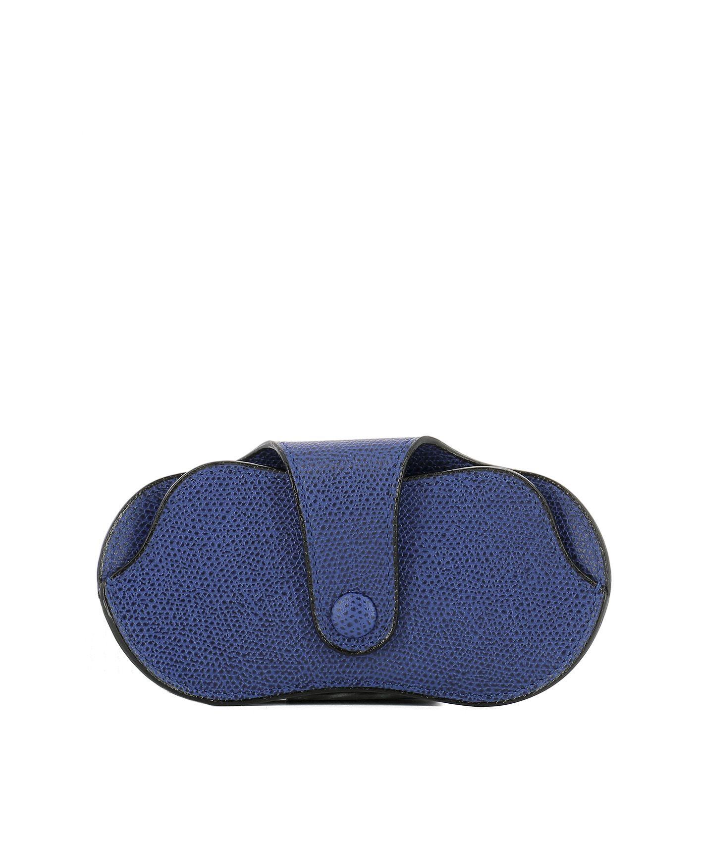 Blue Leather Eyeglasses Case 8361218