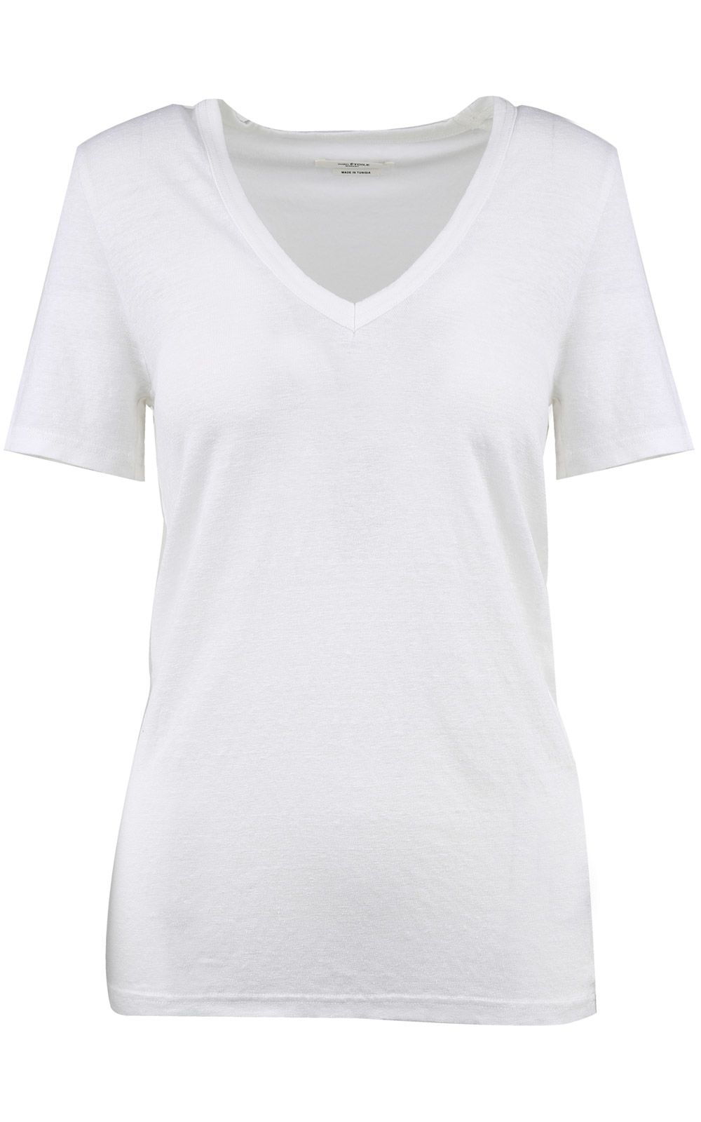 Isabel Marant Etoile Kranger V-neck Linen T-shirt