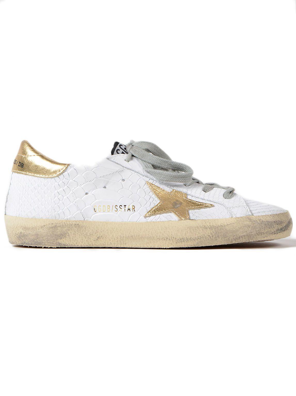 Golden Goose Sneakers Superstar Print Snake-gold Star