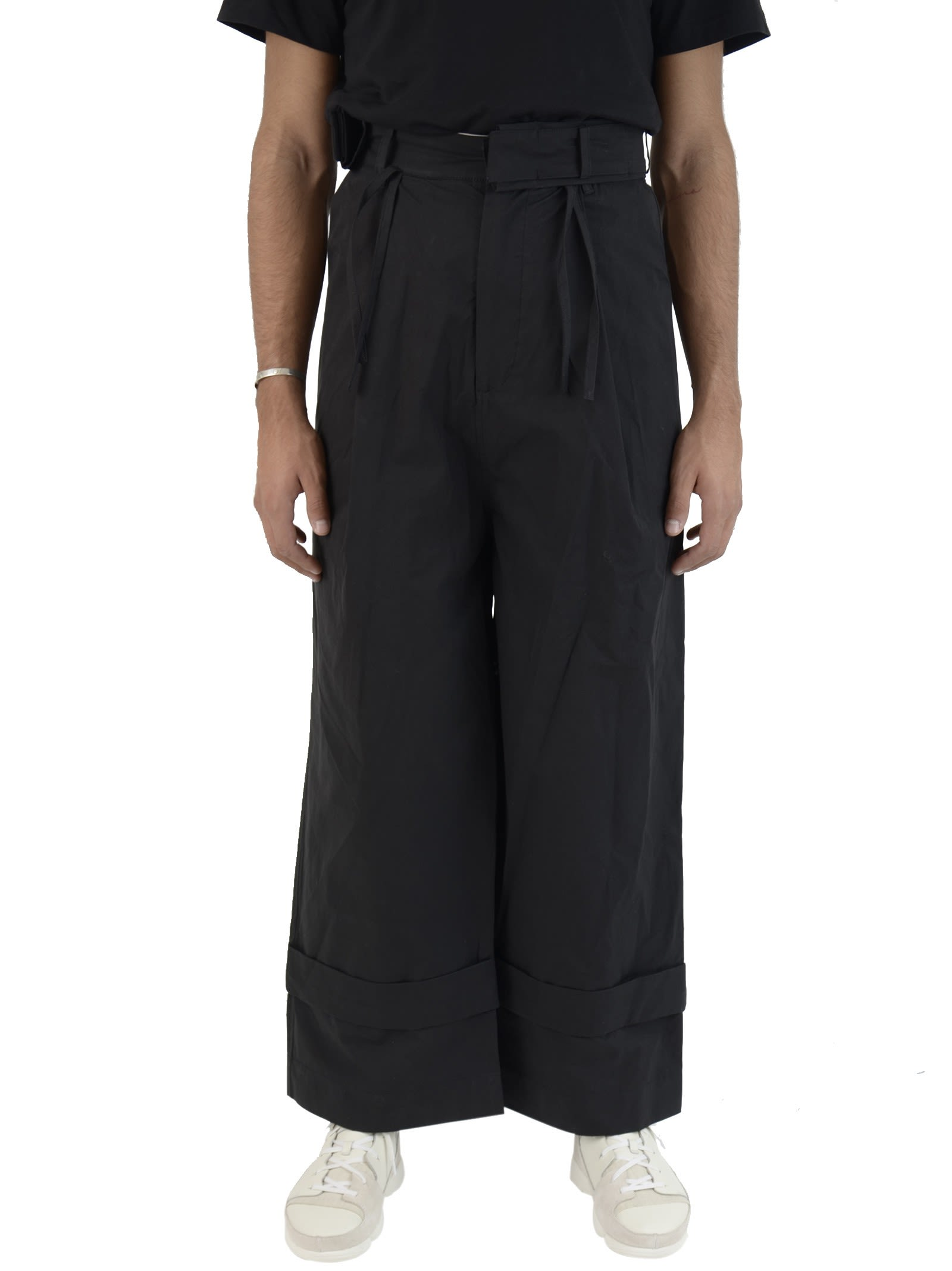 Black Fisherman Trousers