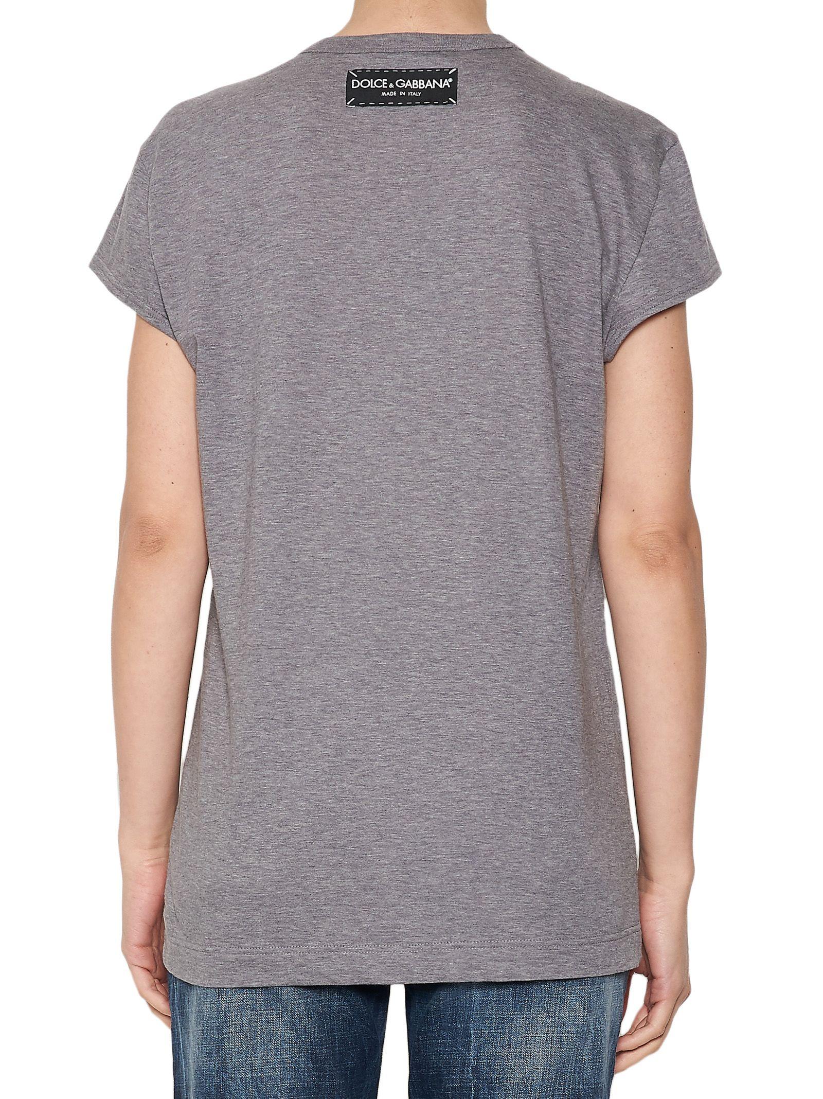 Dolce gabbana dolce gabbana t shirt grey women 39 s for Dolce gabbana t shirt women