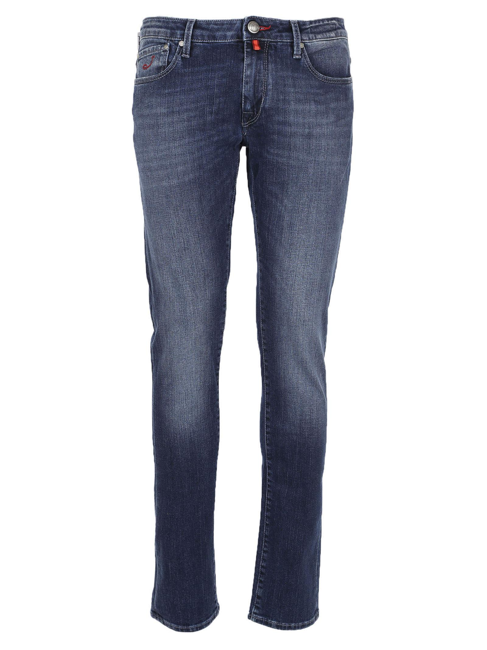 Jacob Cohen Skinny Fit Faded Jeans