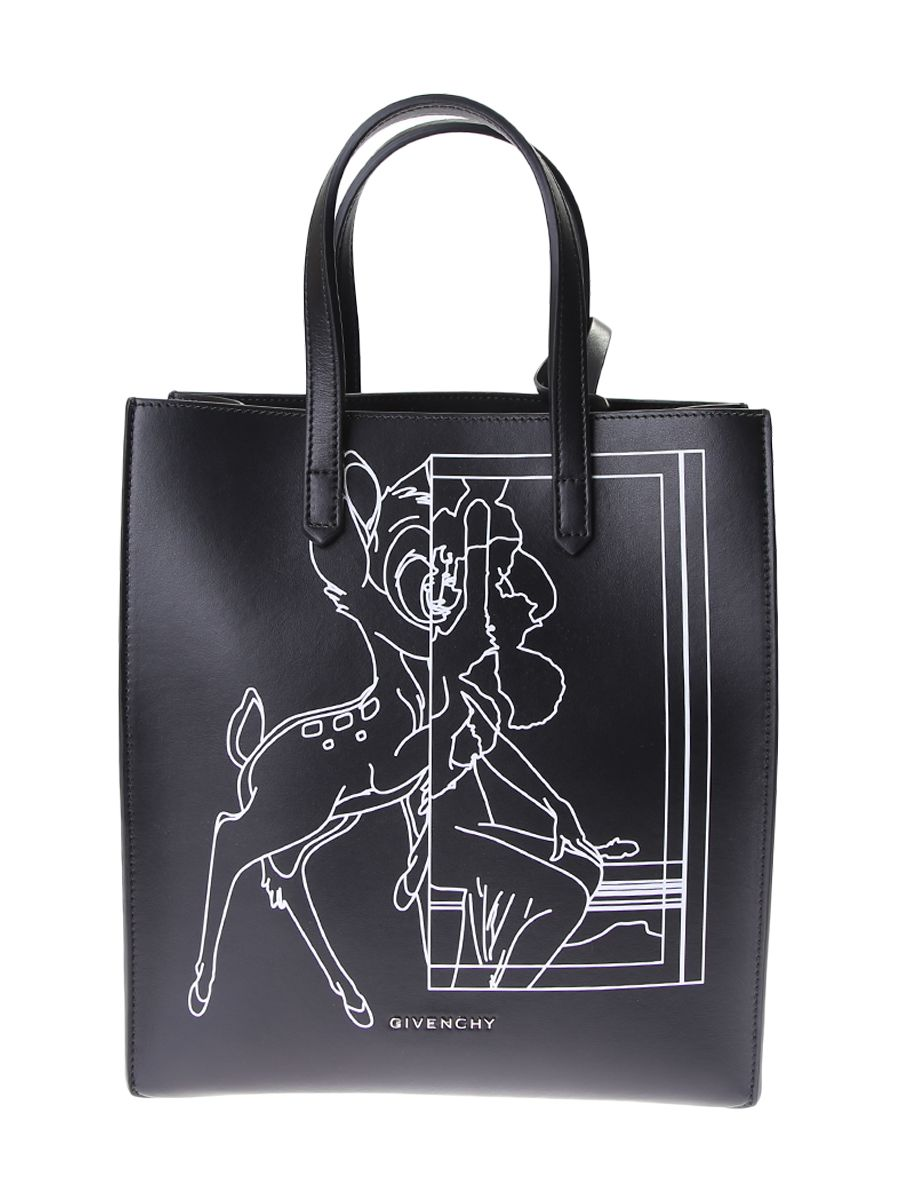 Printed Leather Stargate Bambi Small Tote Bag