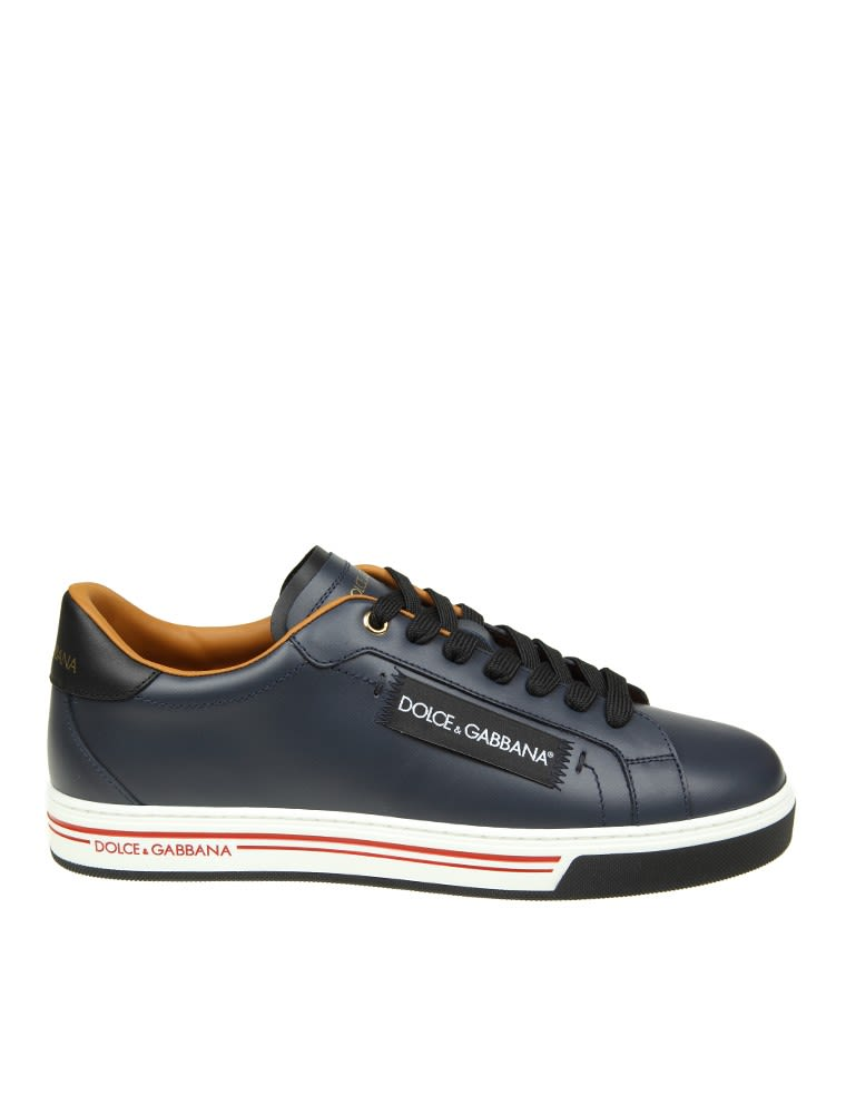 Dolce & Gabbana  LEATHER SNEAKERS BLUE