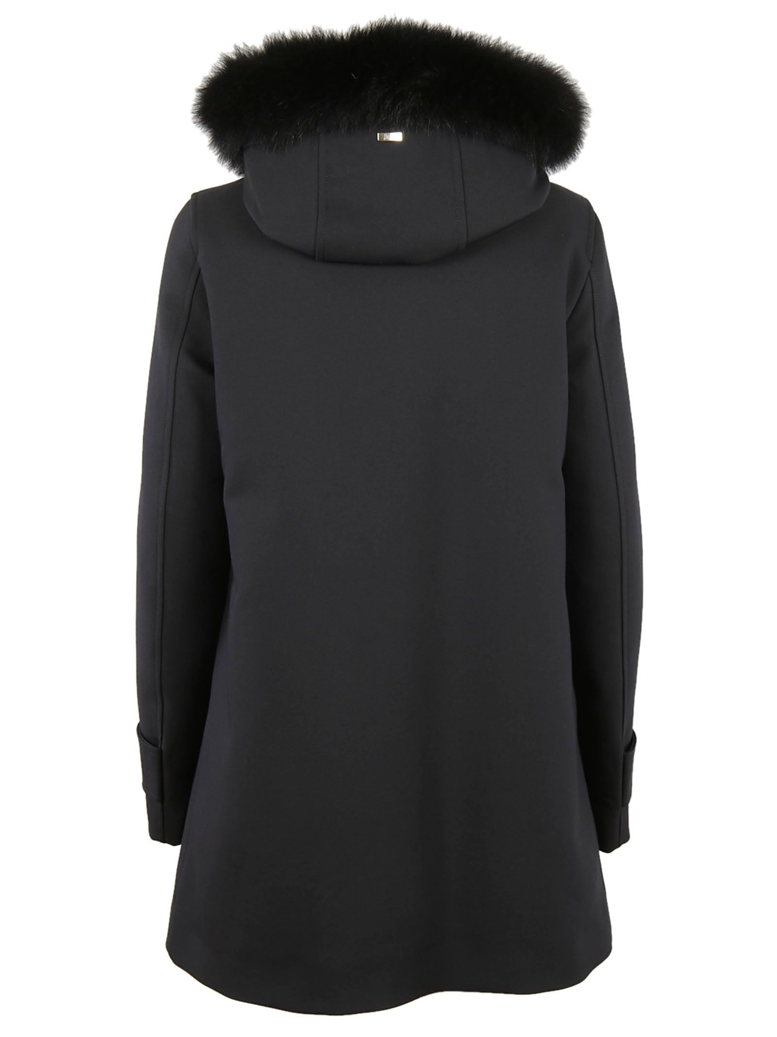 Herno - Herno Fur-trim Hooded Coat - CA0187D.33600 9300 NERO ...