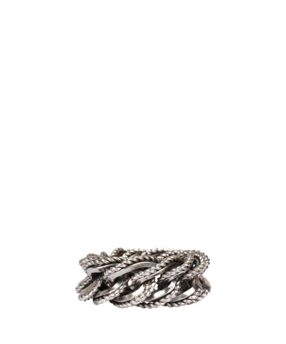 Ugo Cacciatori Fine Chain Cable Silver Ring 10094448