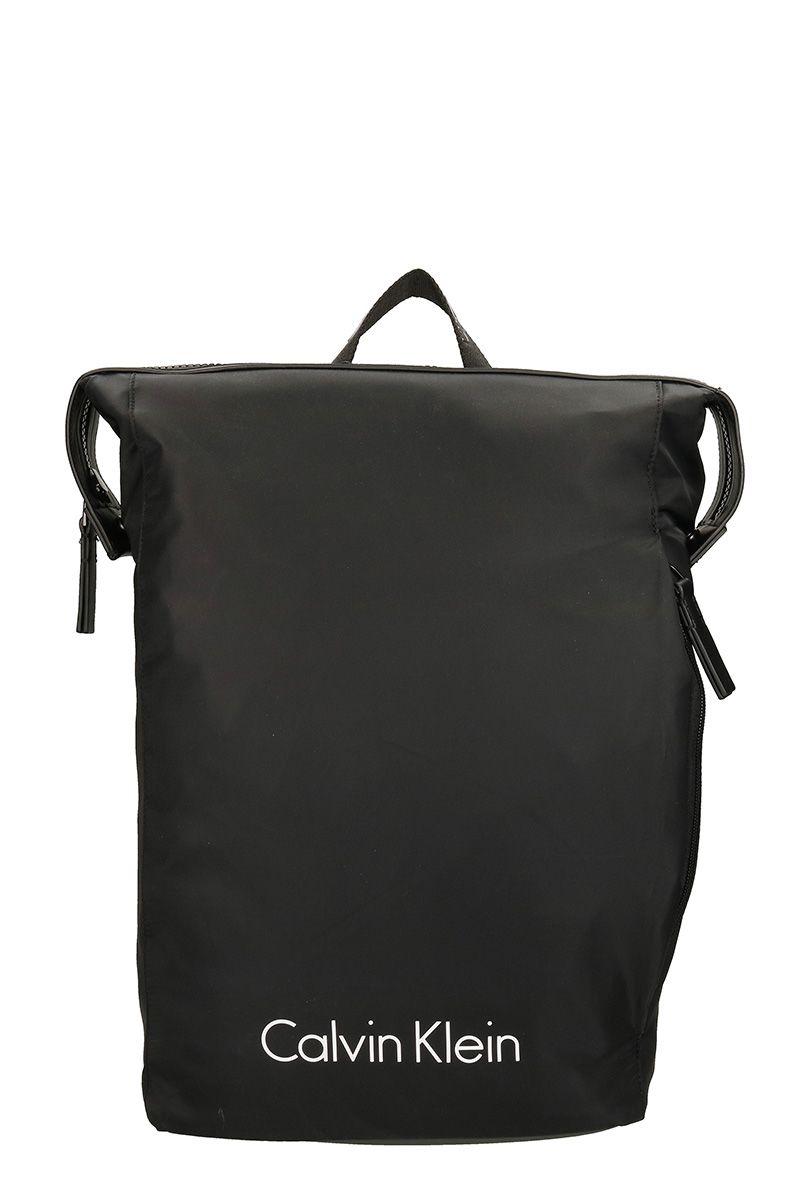 d816cc4ba8a7 Calvin Klein Blithe Balck Nylon Backpack In Black