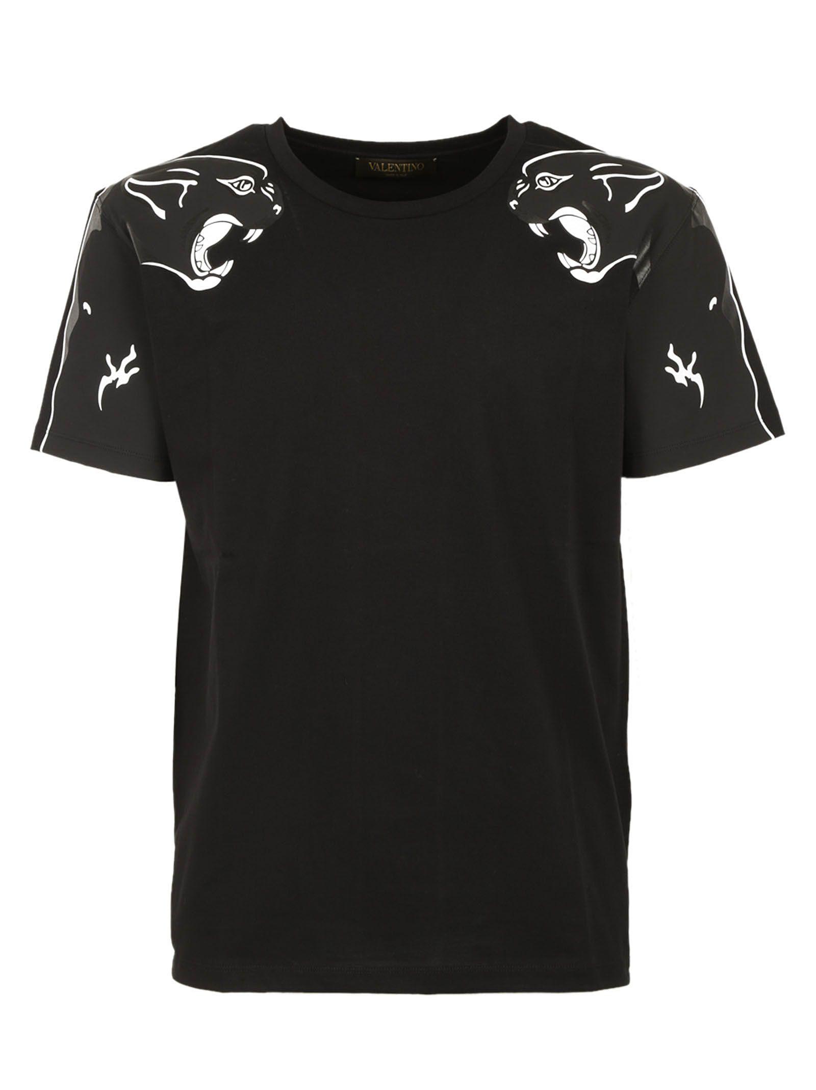 Valentino: Black Panther Print T-shirt