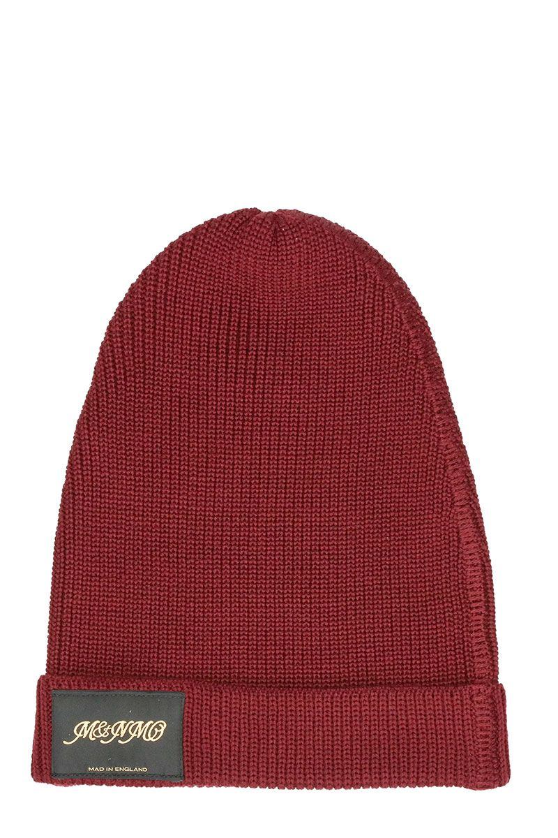Stella McCartney Classic Knitted Bordeaux Beanie Hat