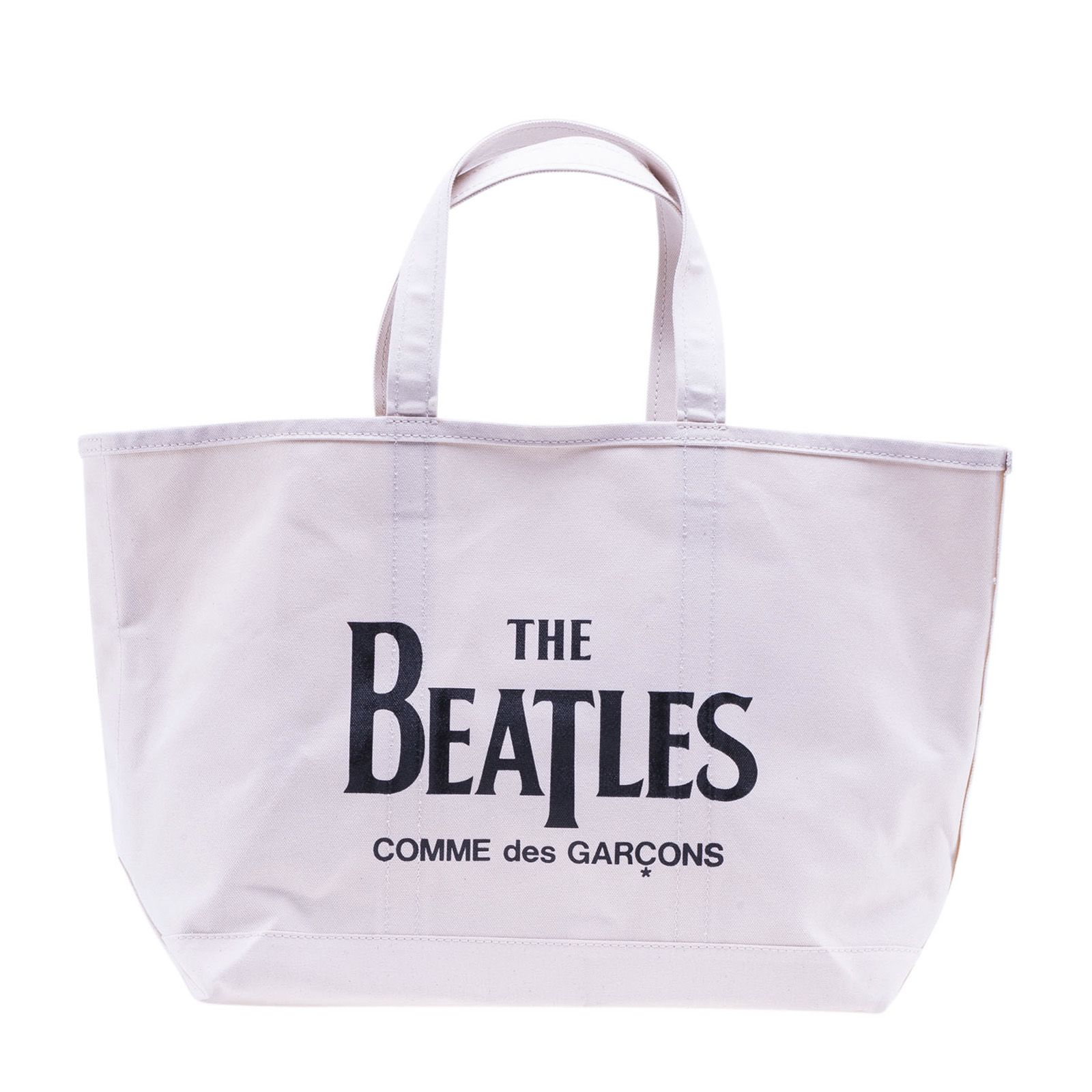 68a7ae93d02d Comme Des GarÇOns Play Beatles Tote Bag In White