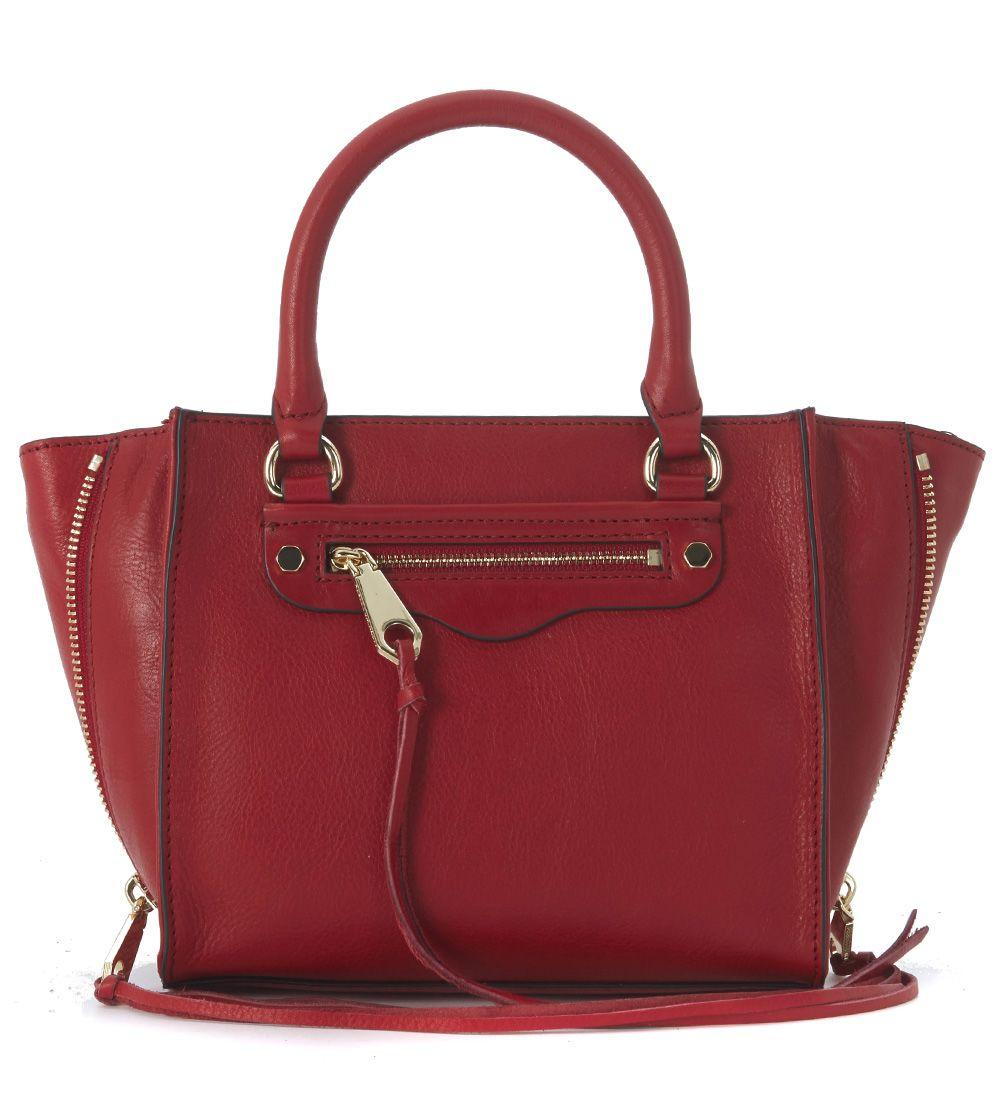 Rebecca Minkoff Mini Regan Red Leather Handbag