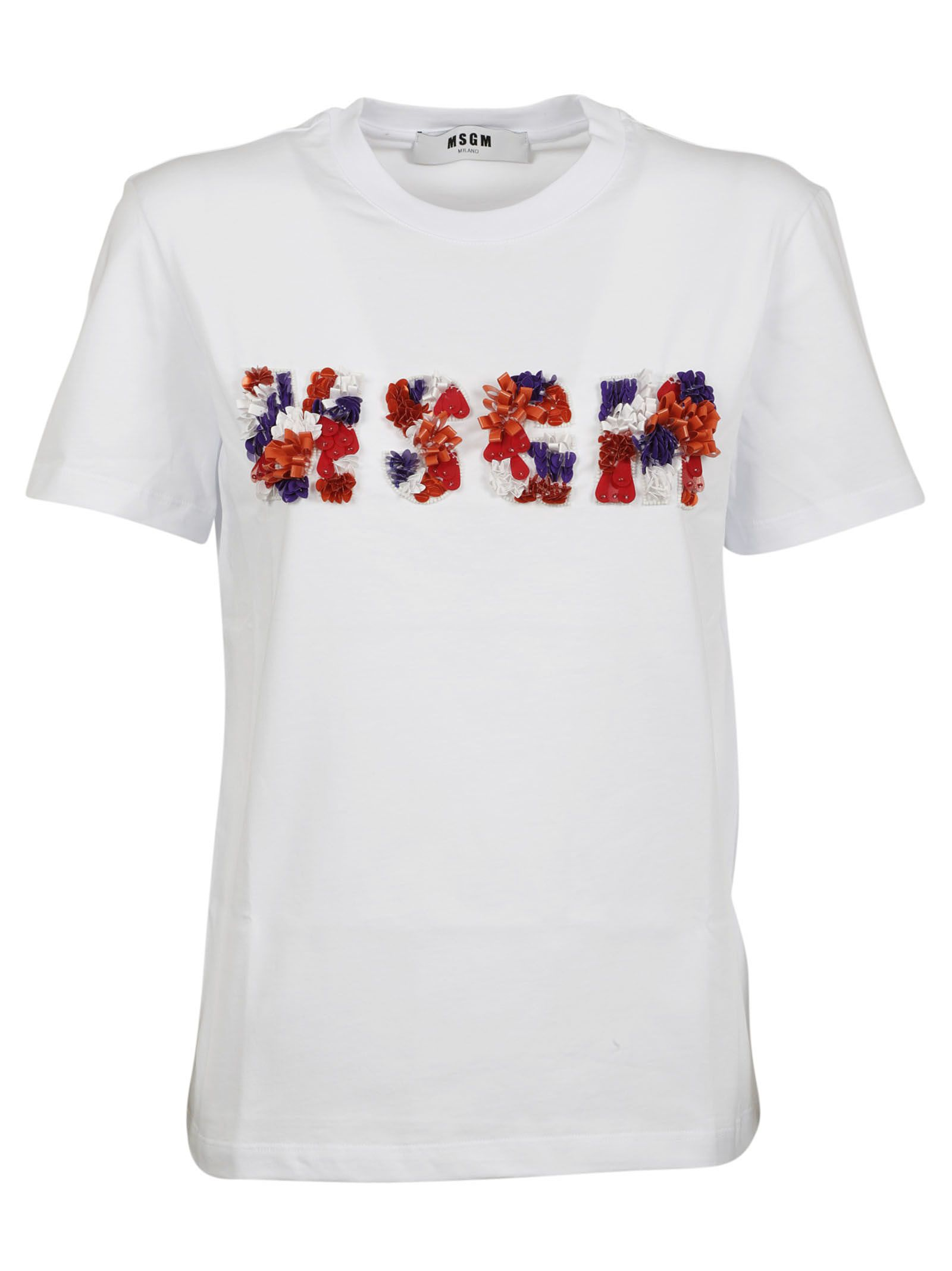 Msgm Floral Logo T-shirt