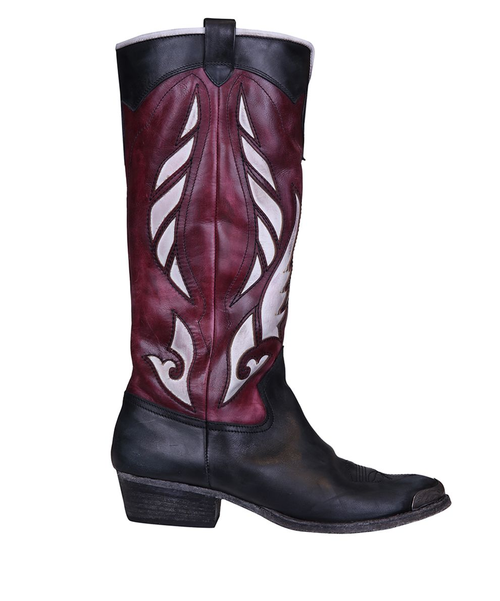 WANDERING Cowboy Leather Boots