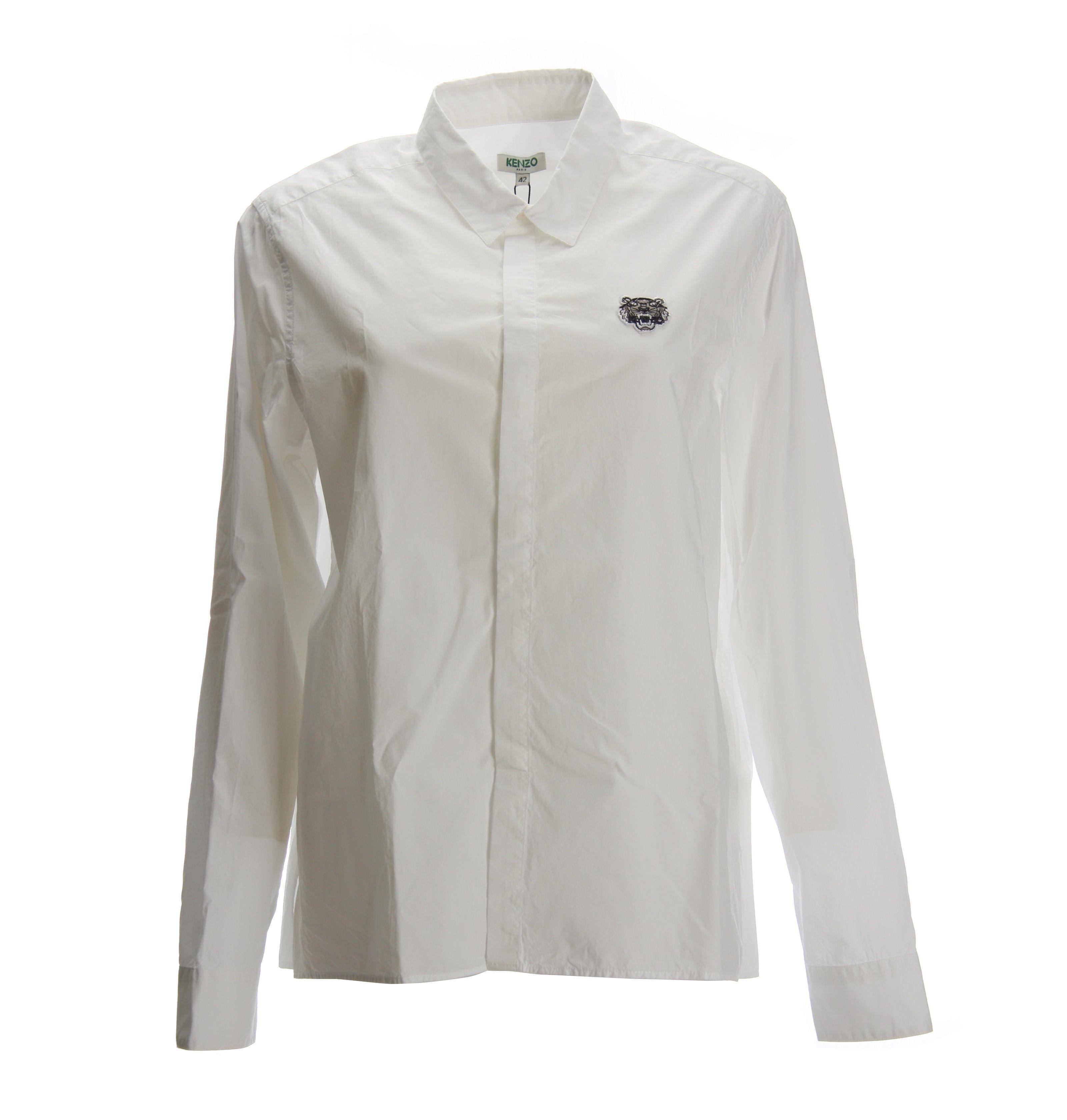 Kenzo White Tiger Logo Shirt