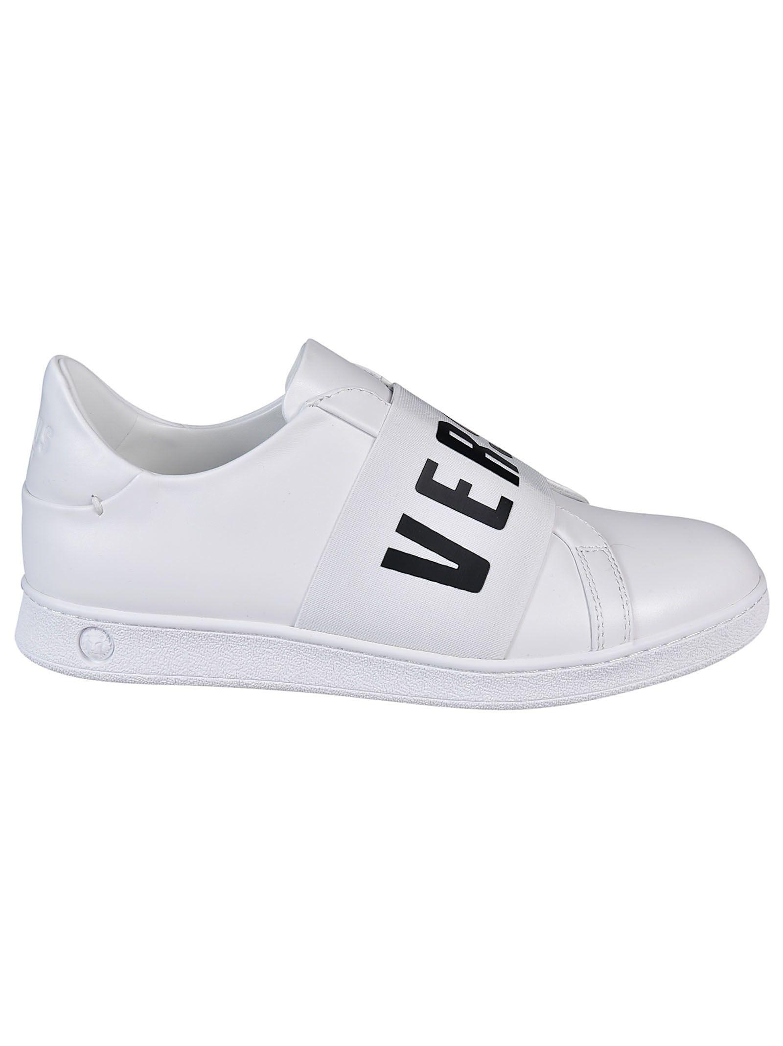 Versus Logo Strap Slip-on Sneakers