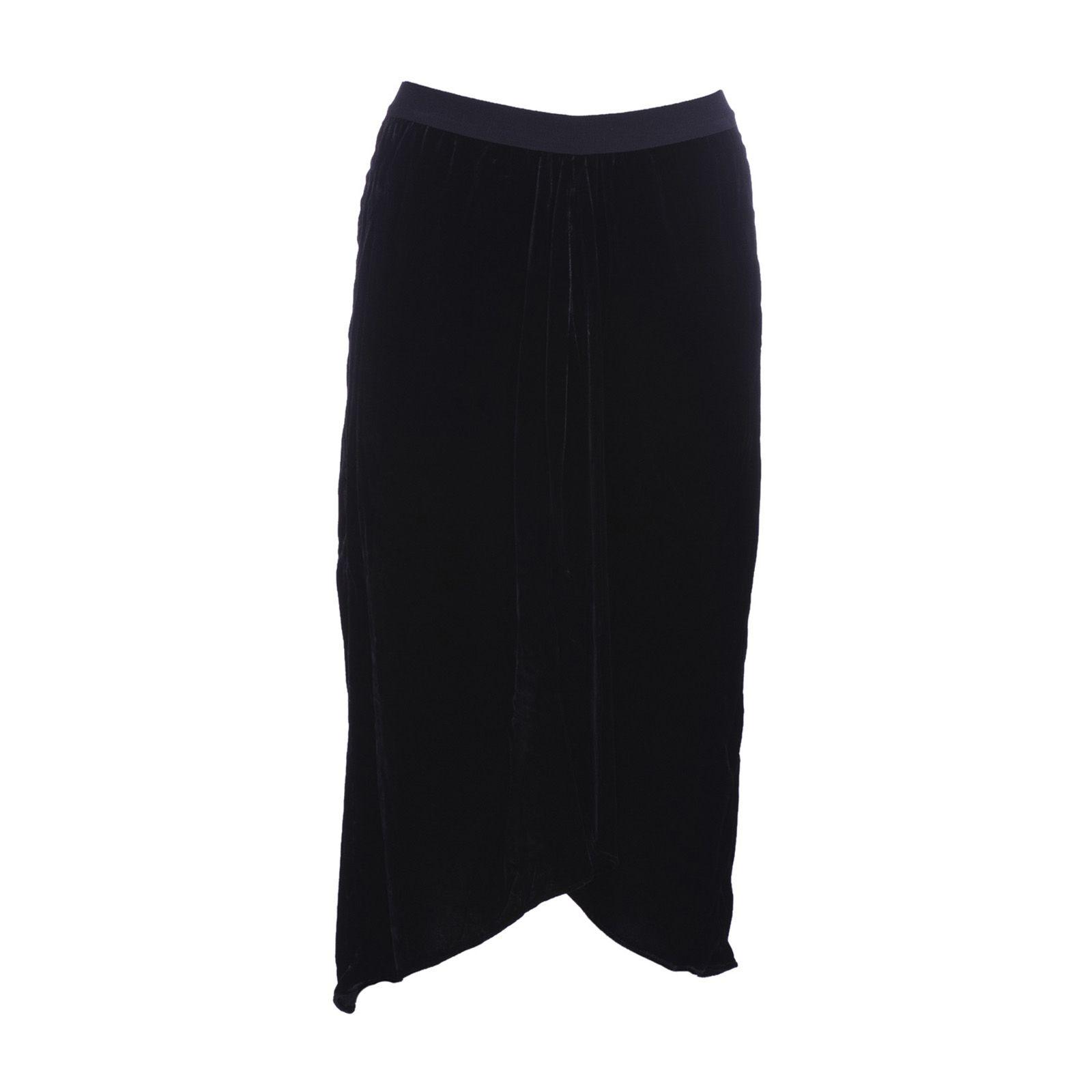 Isabel Marant Tursanne Asymmetric Velvet Midi Skirt