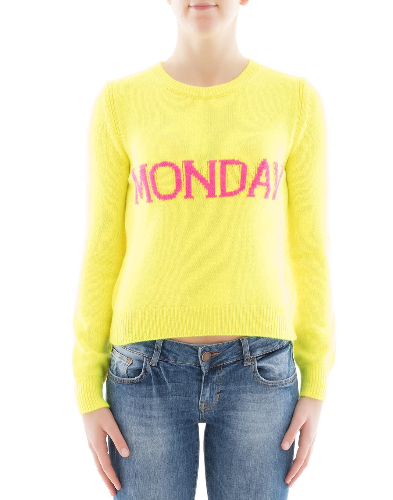 Yellow Wool Sweatshirt