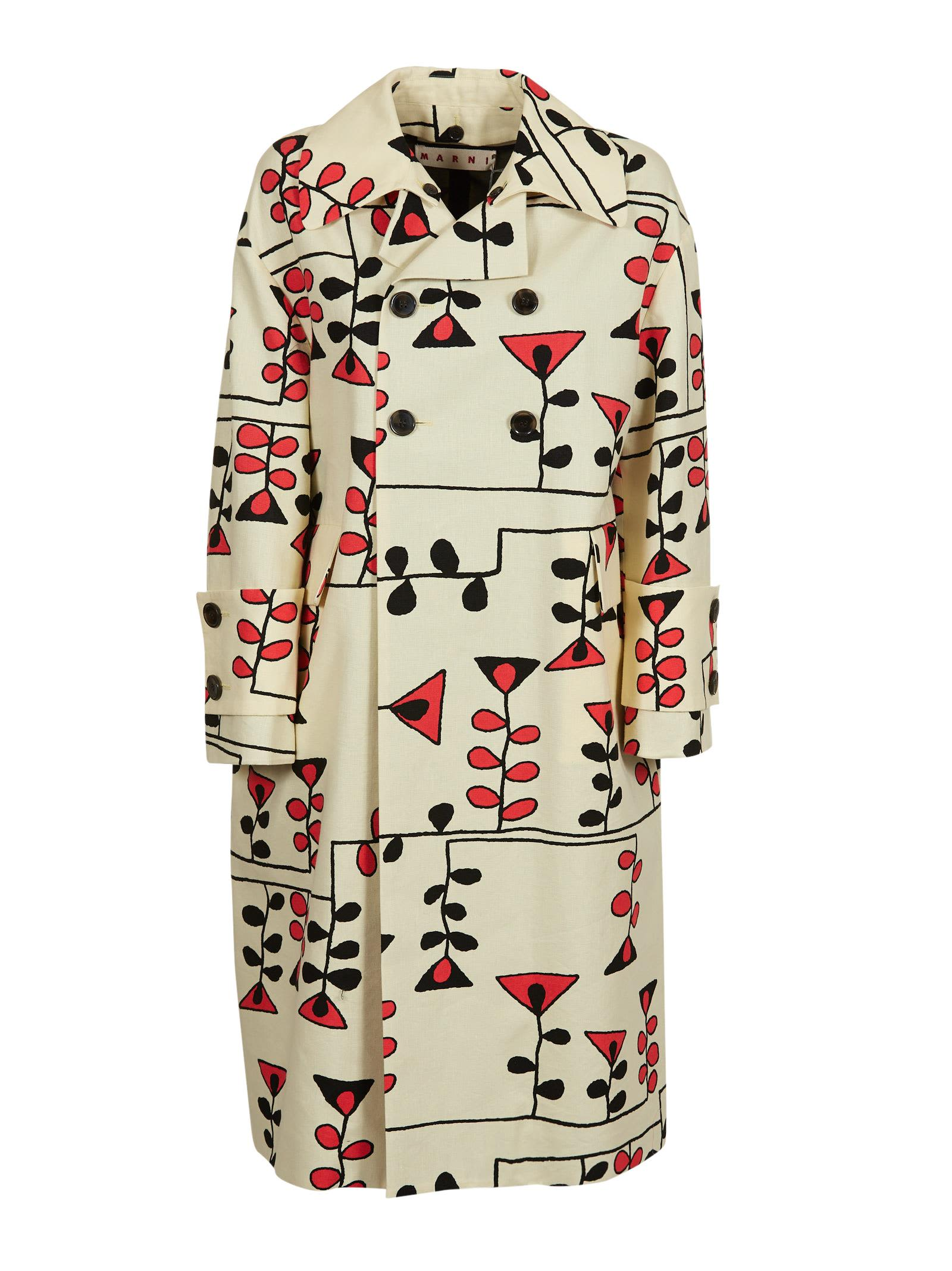 Marni Geometric Patterned Coat