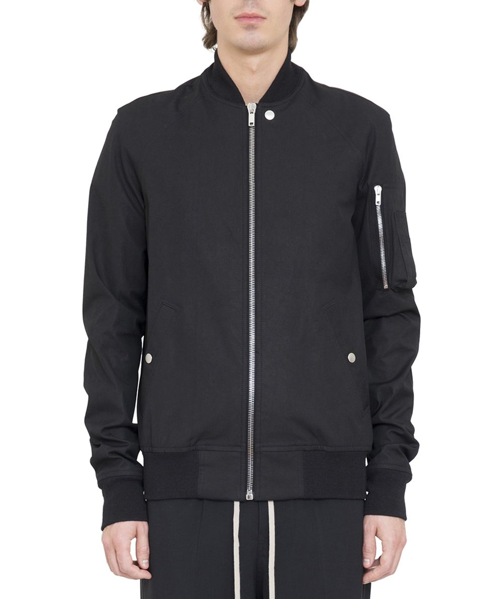 Rick Owens Raglan Cotton Bomber Jacket