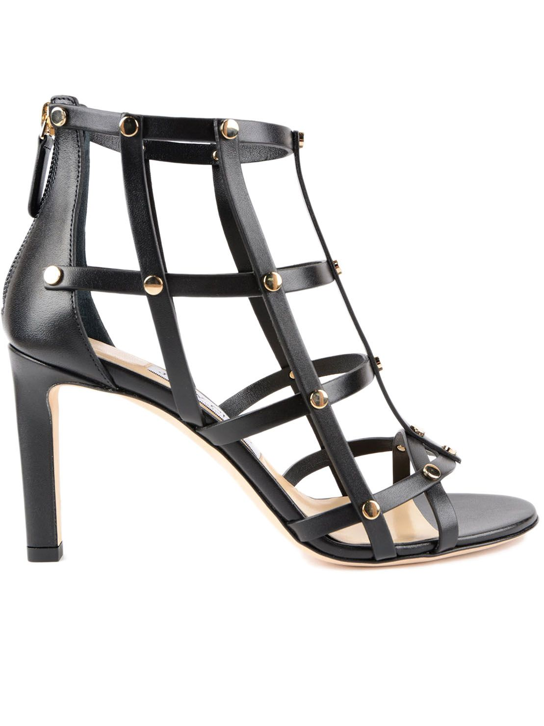 Jimmy Choo Tina Studded Cage Sandals