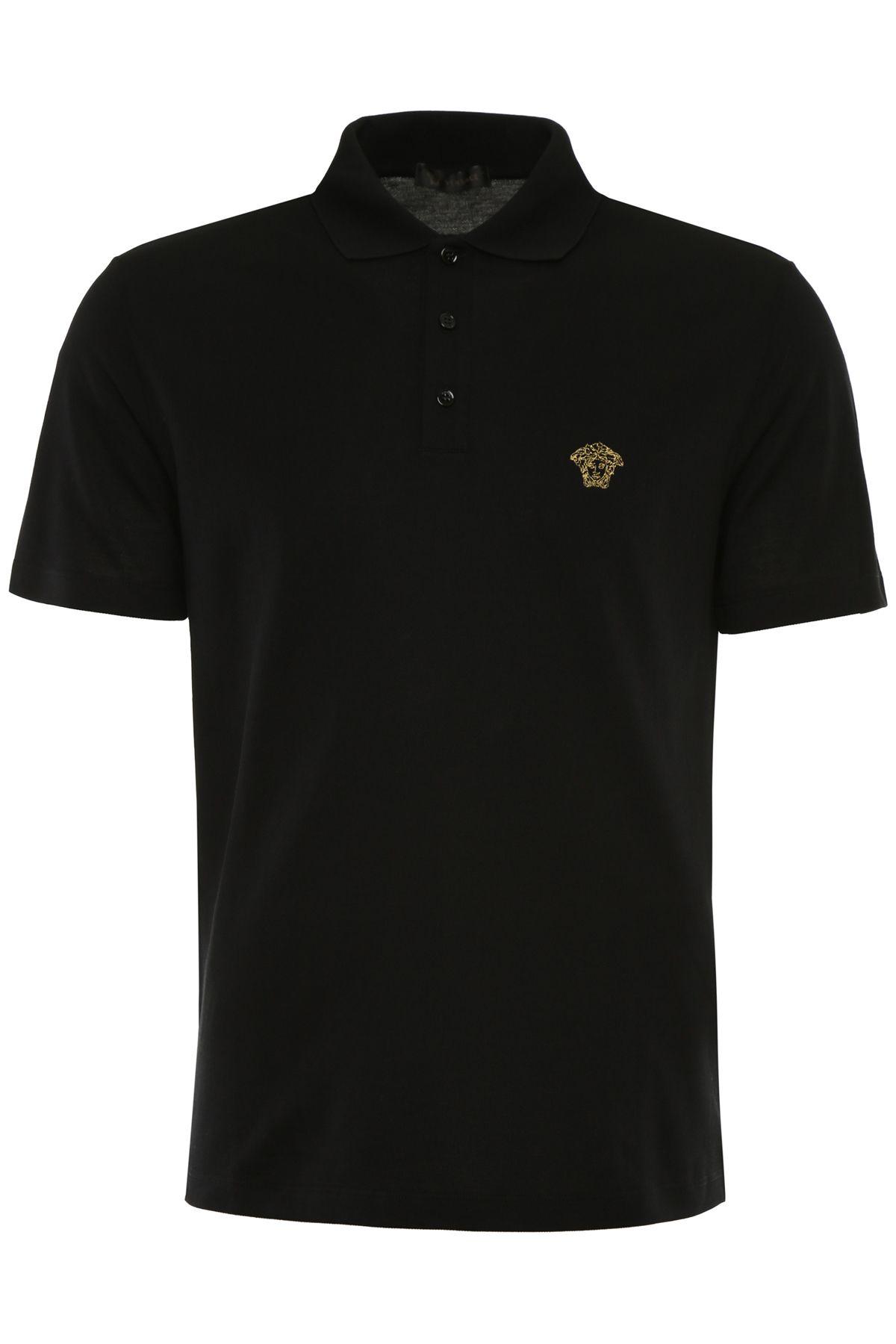 Polo Shirt With Medusa Embroidery
