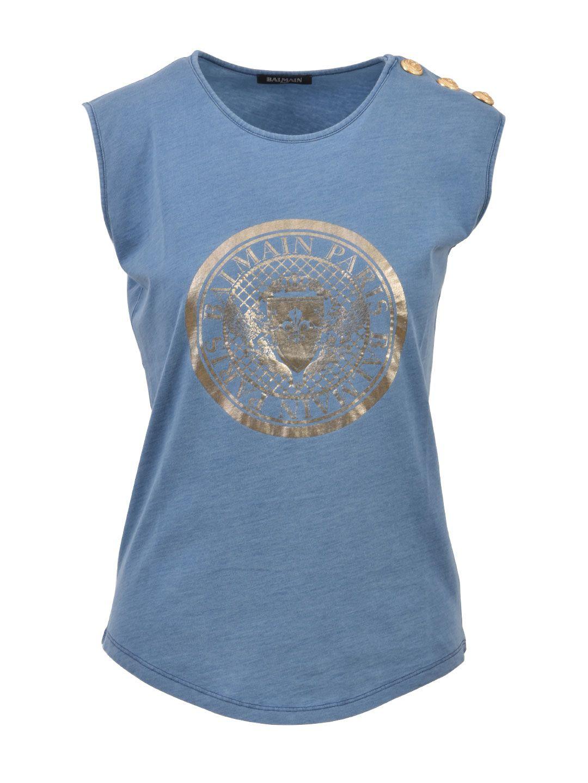 Balmain Gold Buttons T-shirt