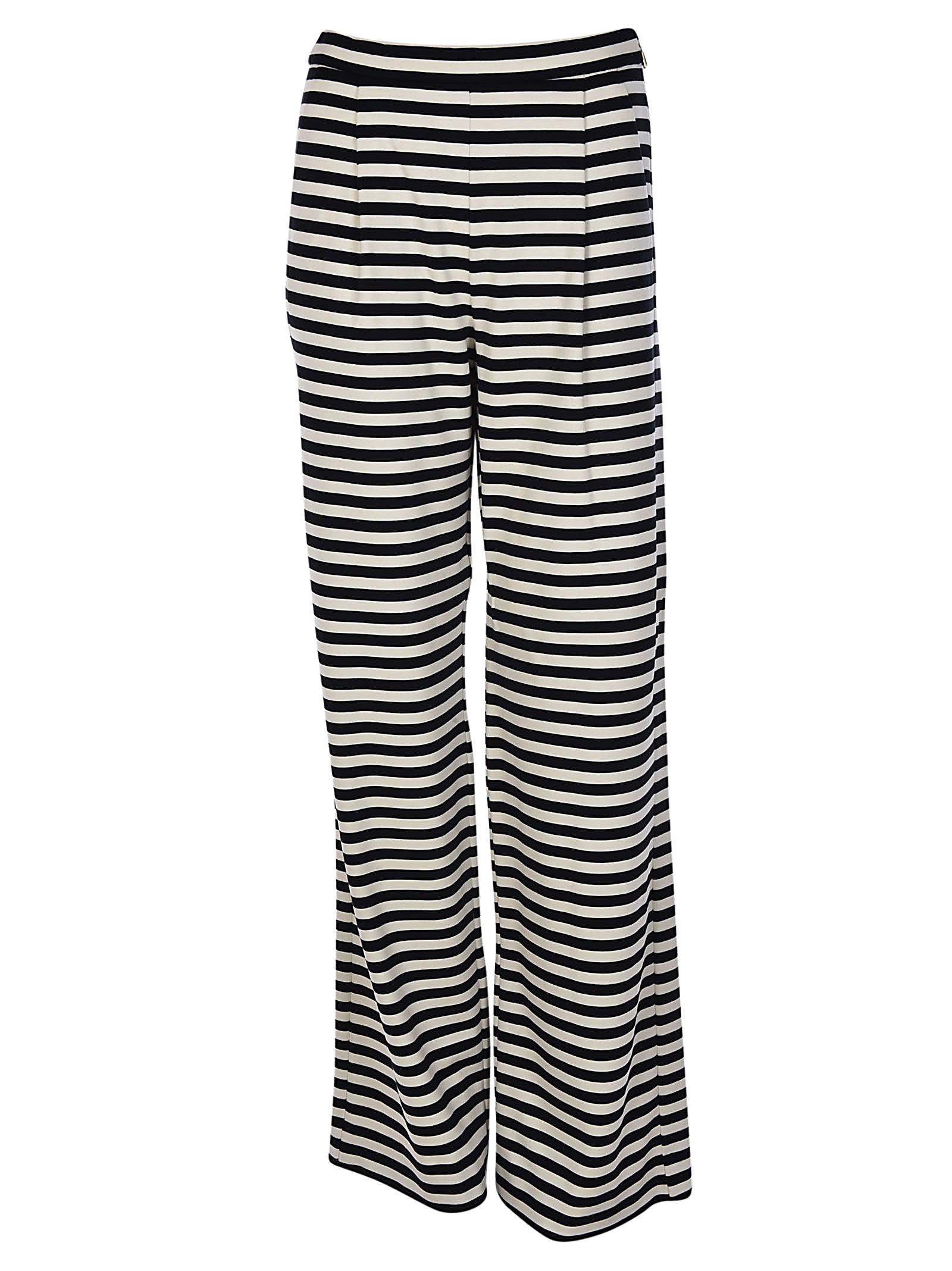 Max Mara Striped Wide Leg Trousers