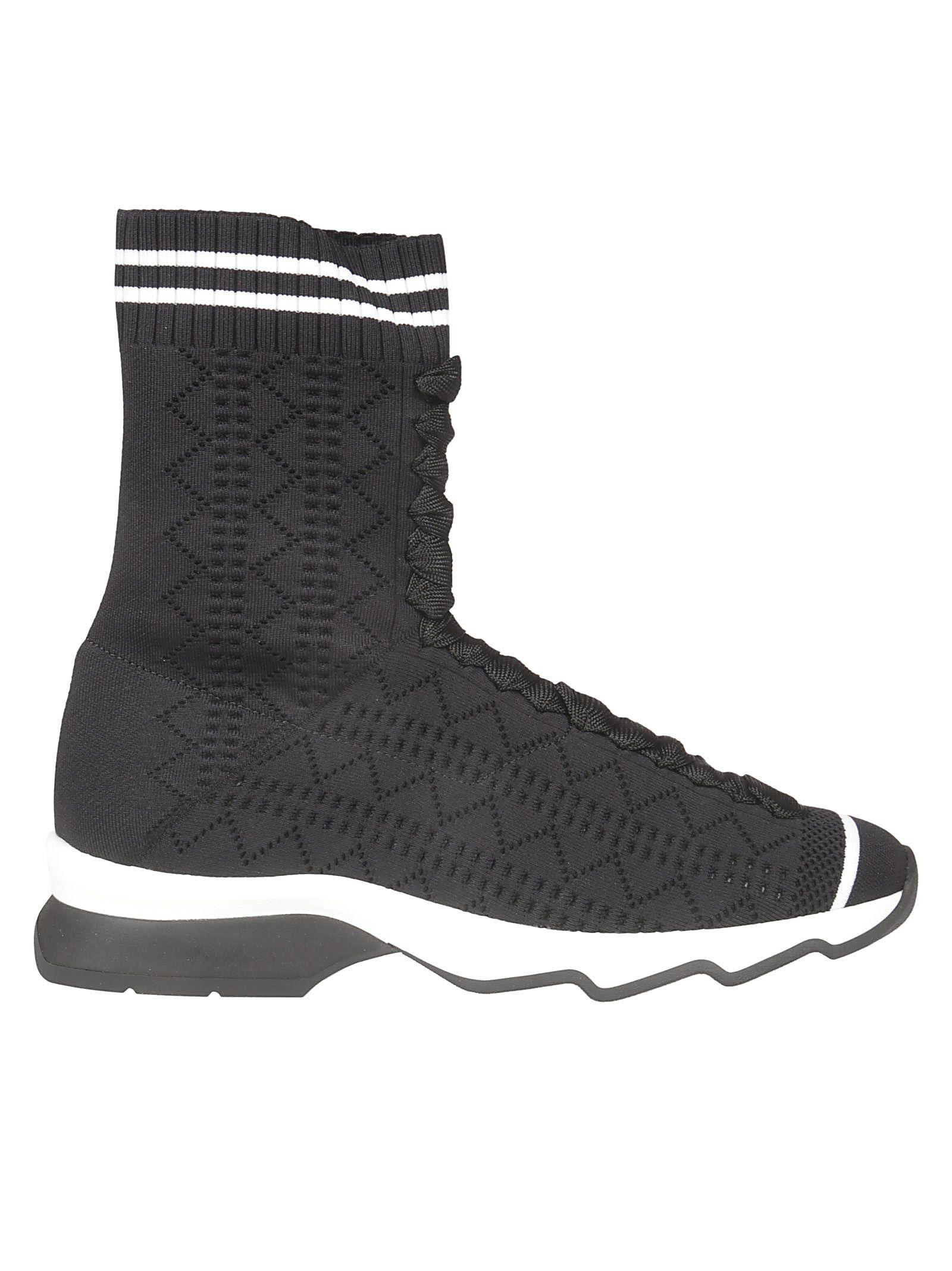 Fendi Open Work Hi-top Sneakers