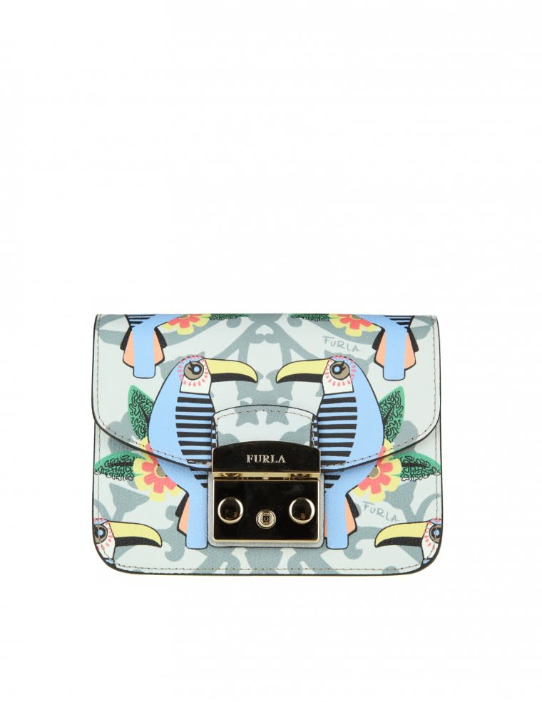 Furla Metropolis Mini In Leather With Print