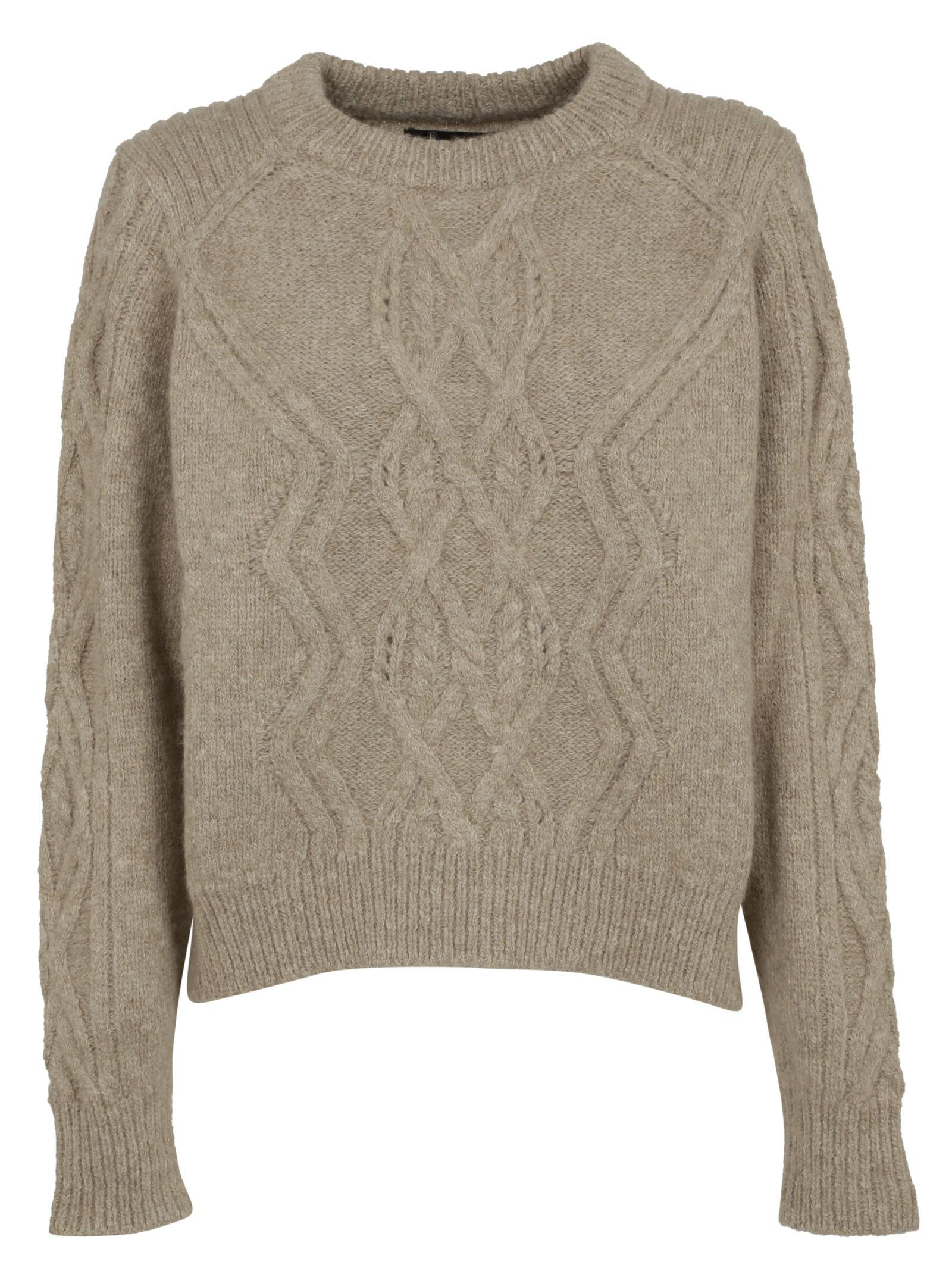 isabel marant isabel marant cable knit sweater beige women 39 s sweaters italist. Black Bedroom Furniture Sets. Home Design Ideas