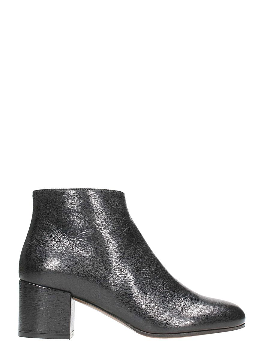 LAutre Chose Zip King Black Nappa Ankle Boots