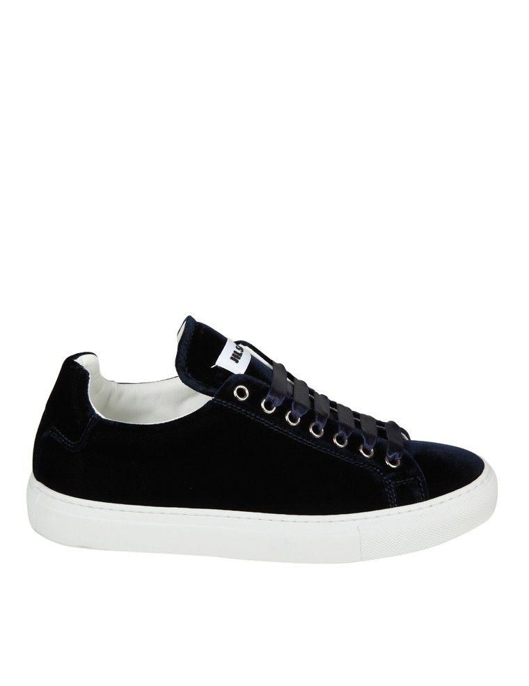 Jil Sander Sneakers Velluto Blu