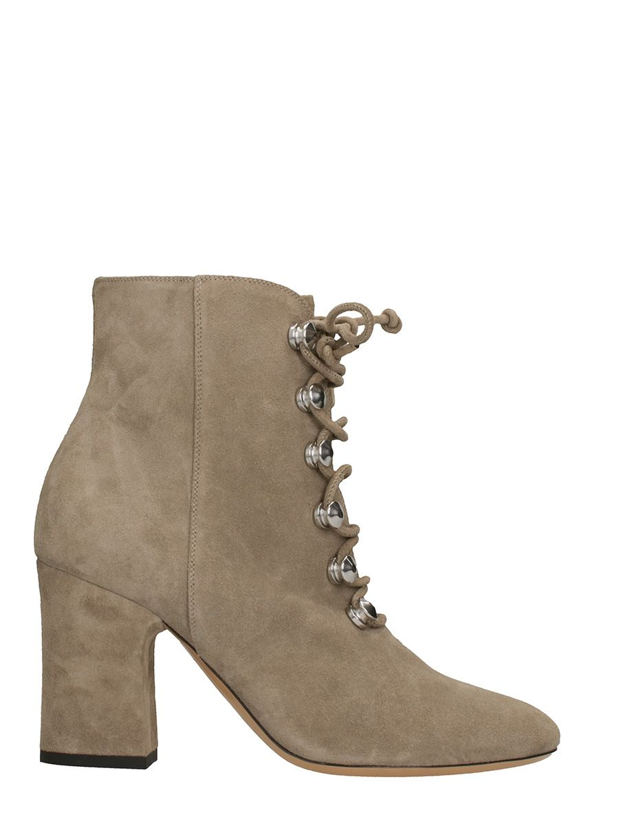 Dei Mille Taupe Suede Leather Ankle Boots