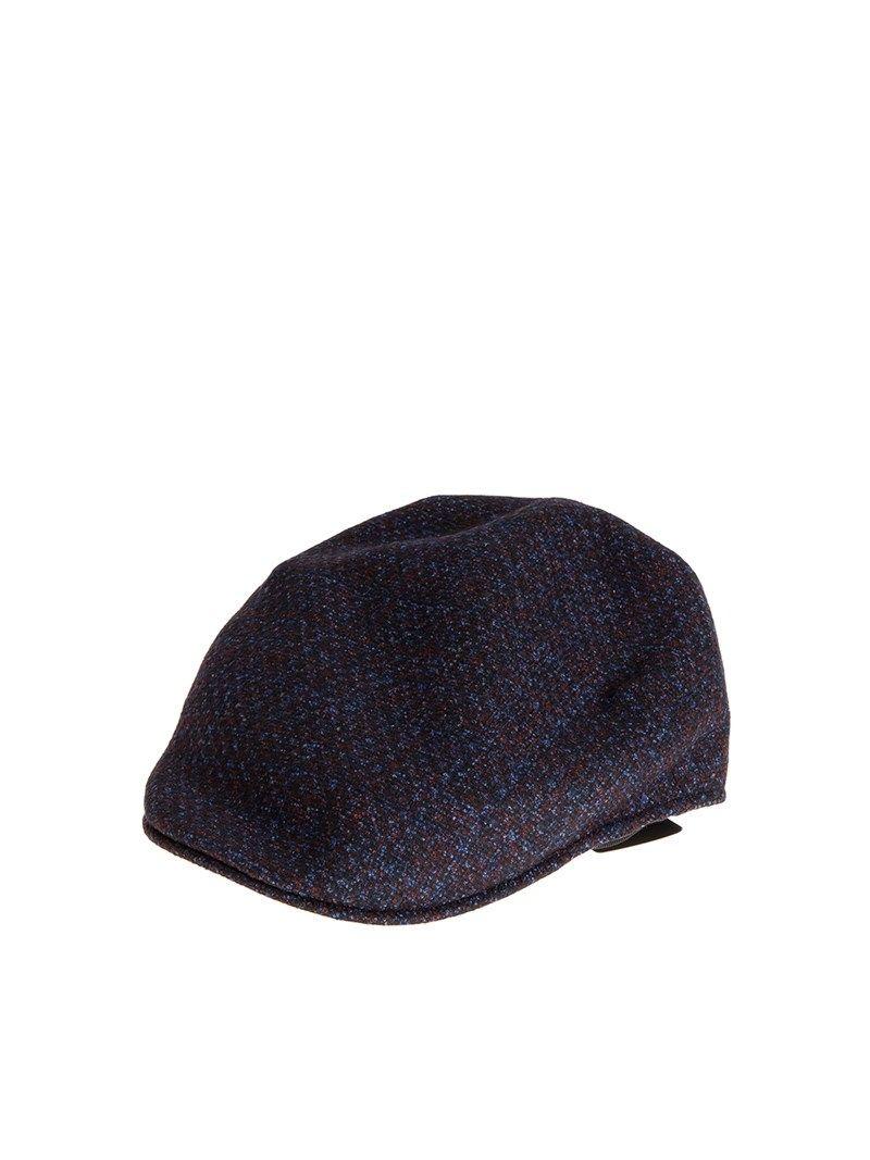Borsalino Wool And Silk Flat Cap