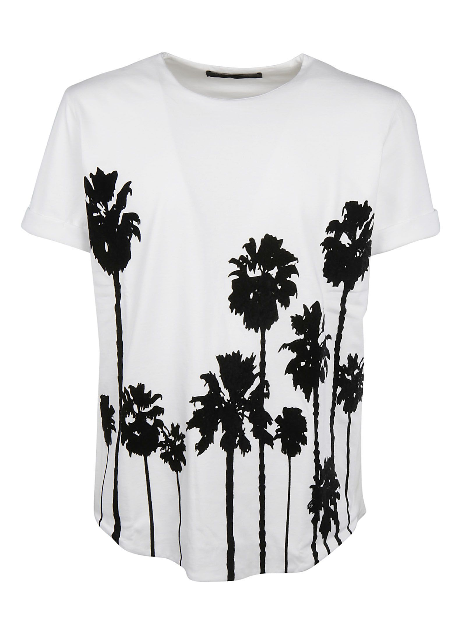 Christian Pellizzari Floral Embroidered T-shirt