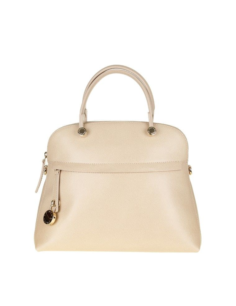 Furla Bag Piper M Leather Beige