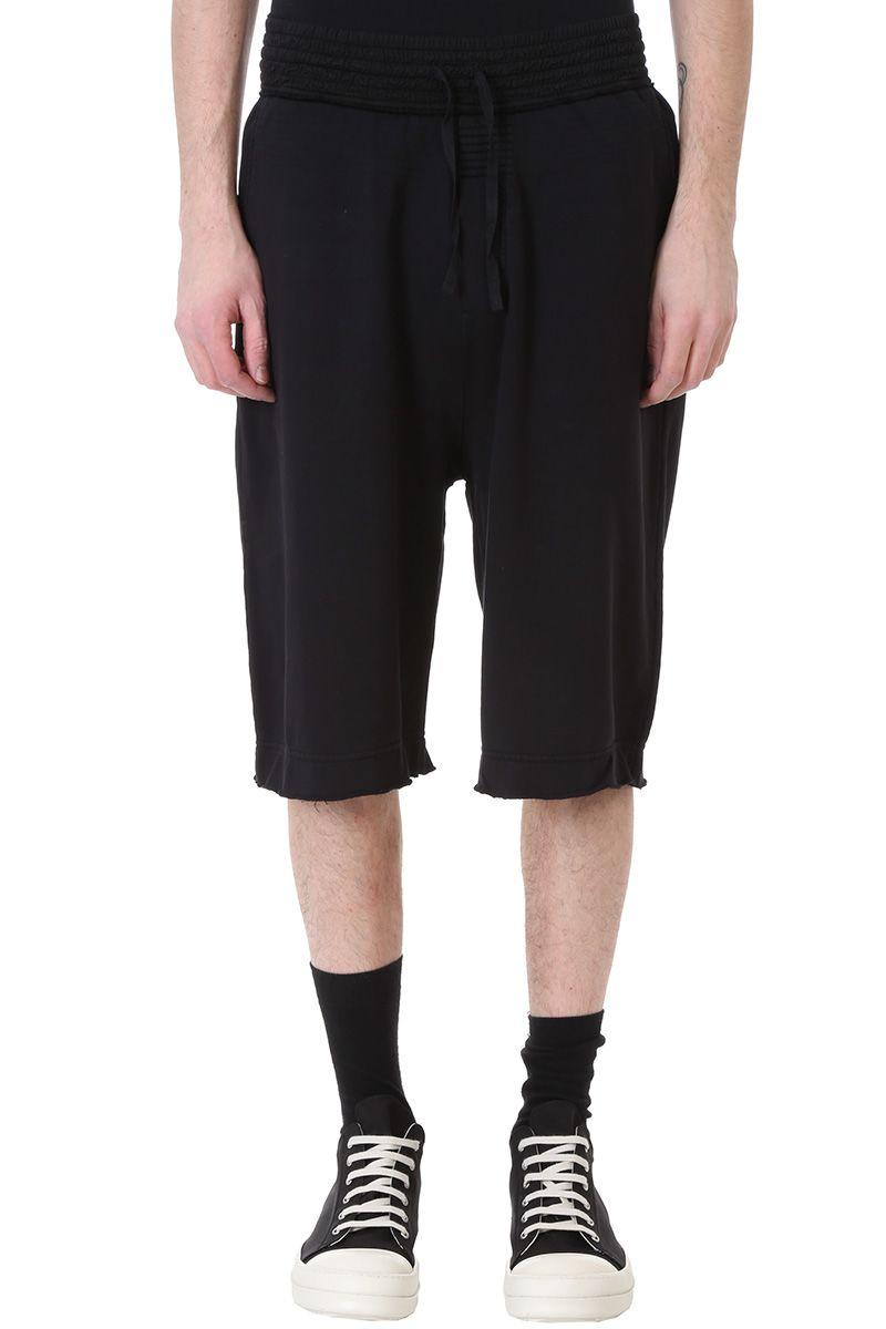 Damir Doma Paro Black Cotton Shorts