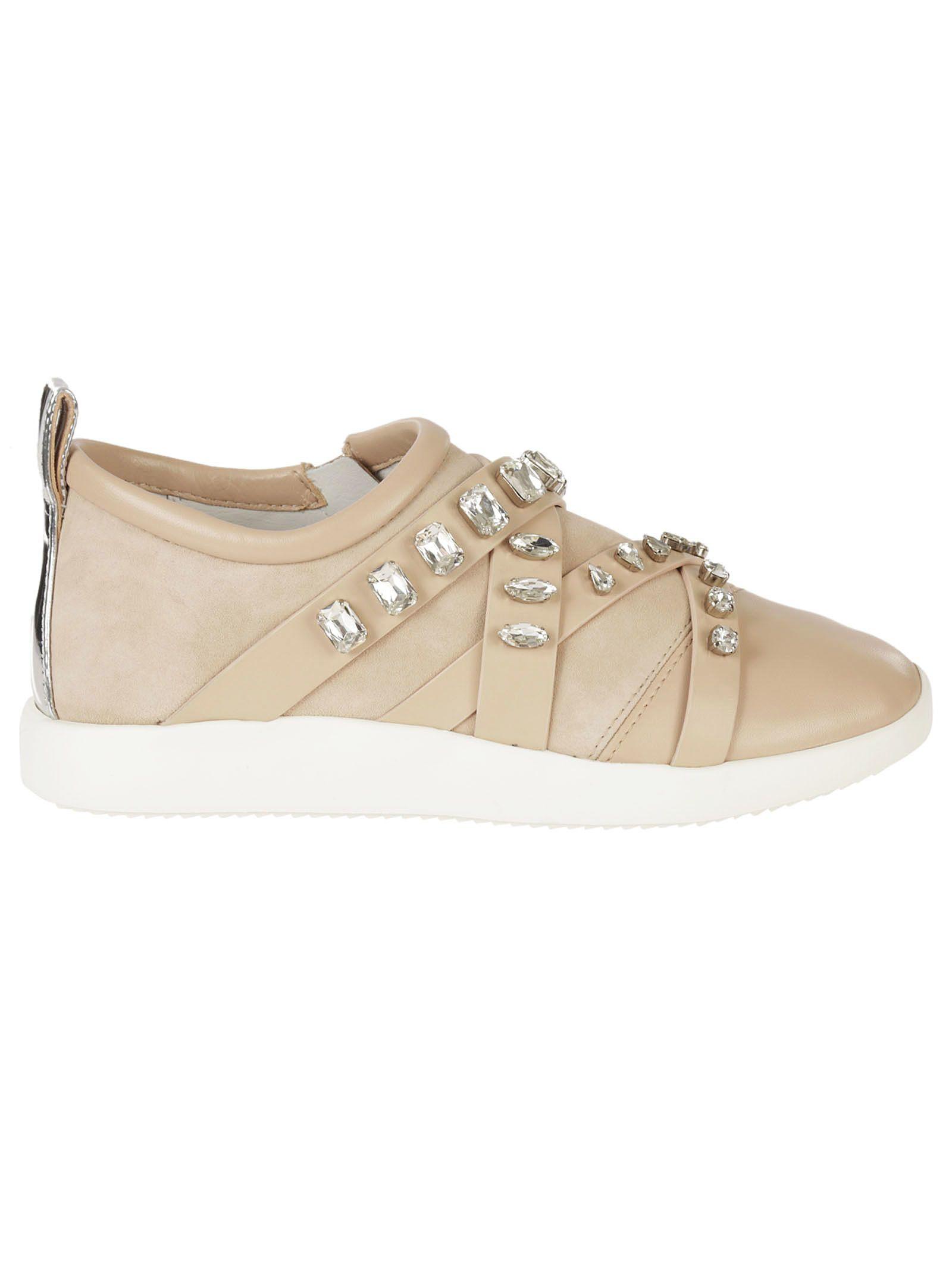 Giuseppe Zanotti Embellished Strap Slip-on Sneakers