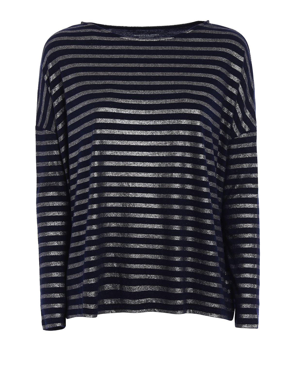 Metallic Striped T-shirt