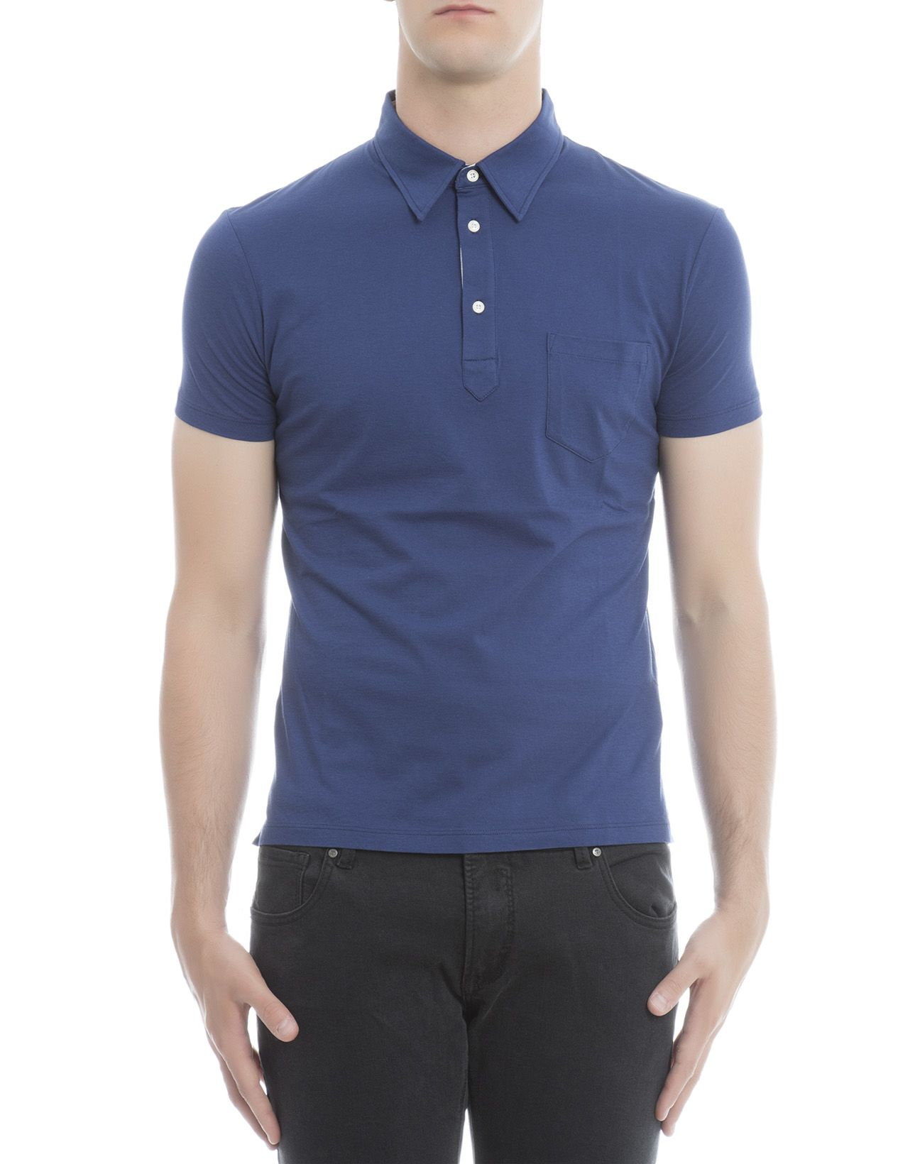 Blue Cotton Polo