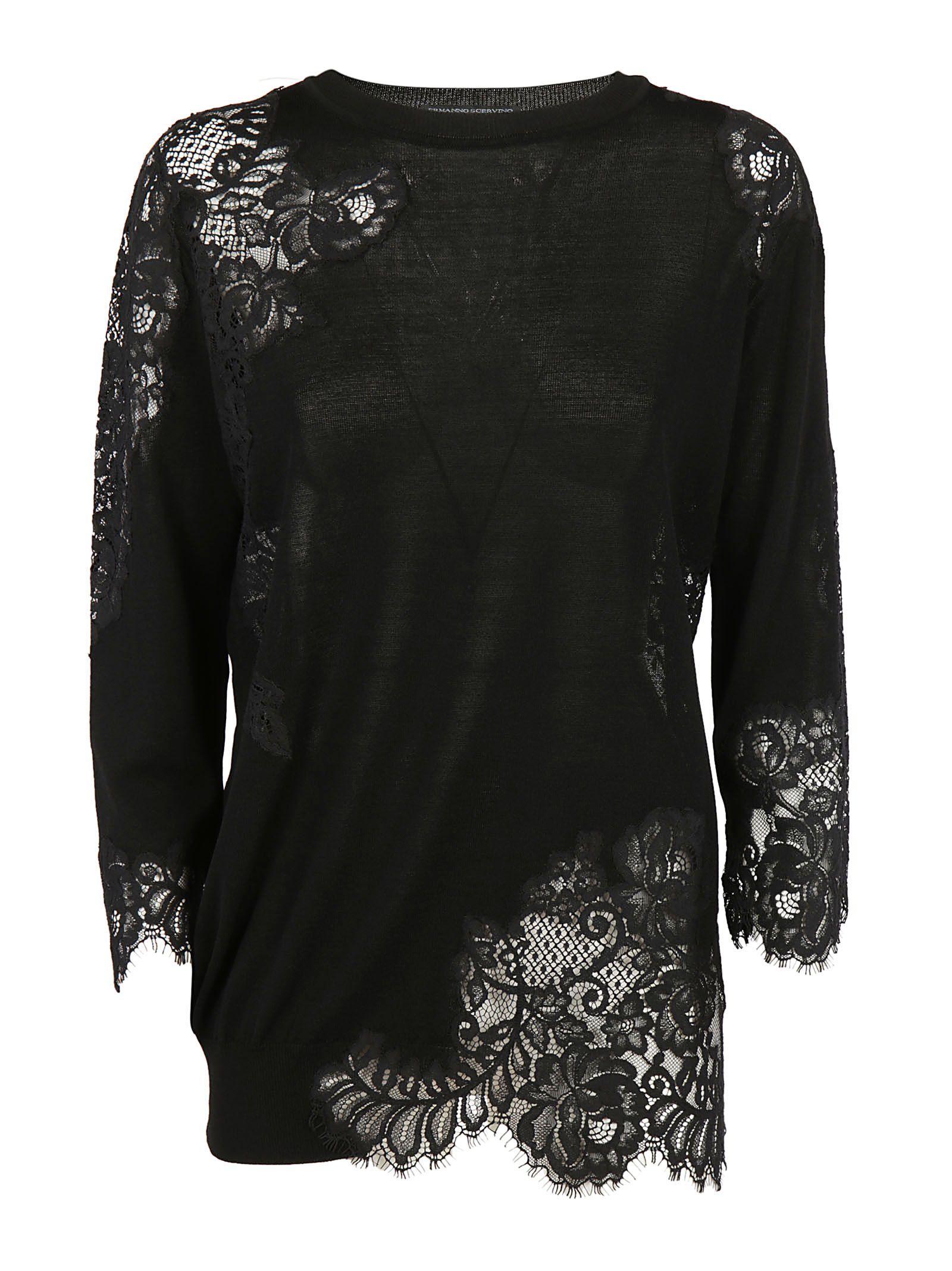 Ermanno Scervino Lace Effect Sweater