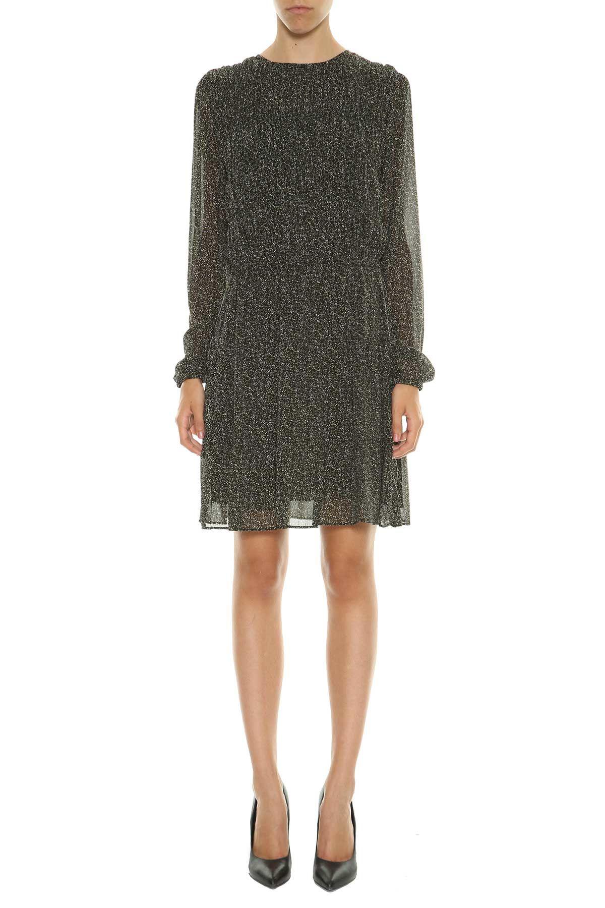 Michael Michael Kors Floral Printed Chiffon Short Dress