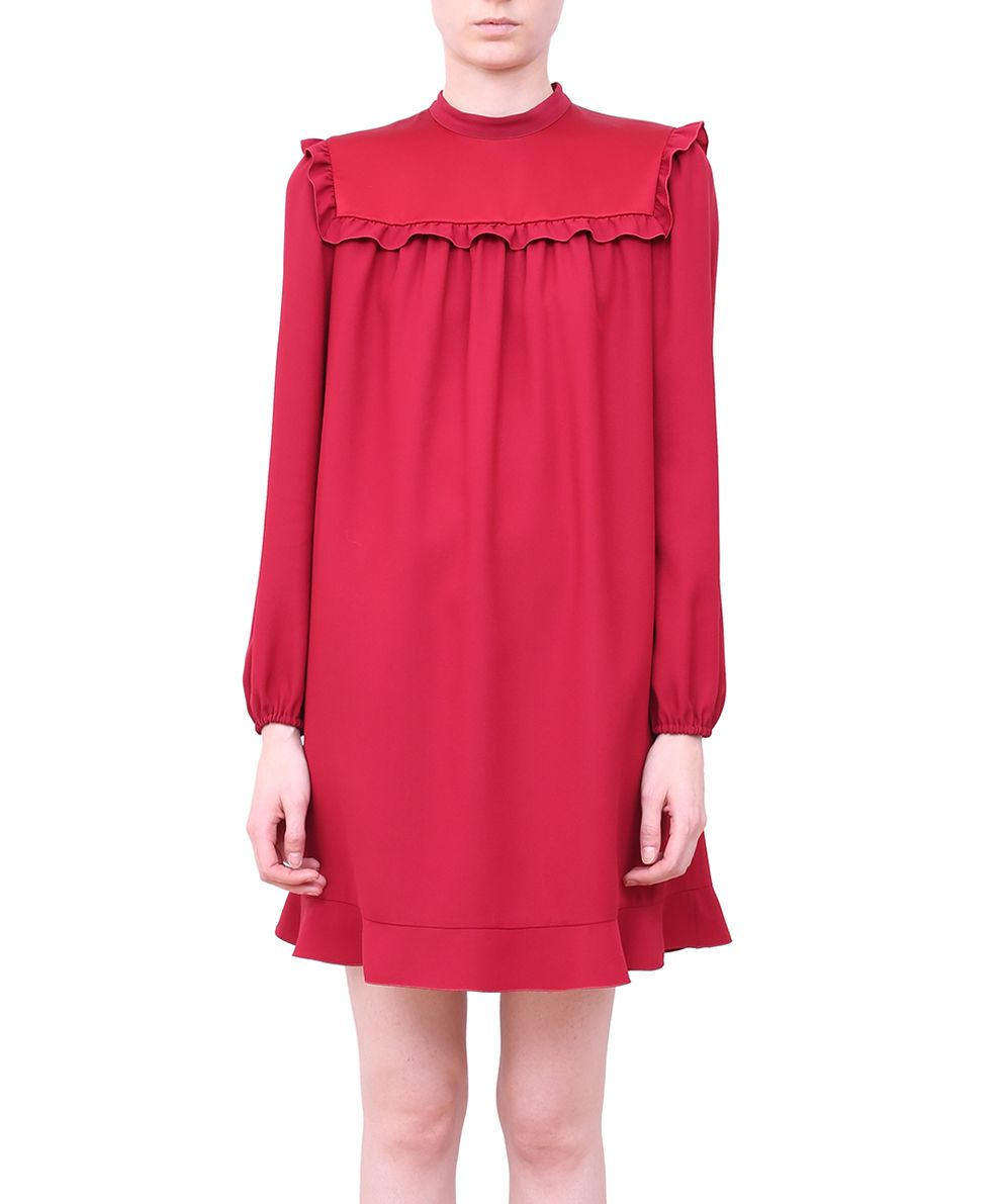 RED Valentino Viscose Cady Ruffled Dress