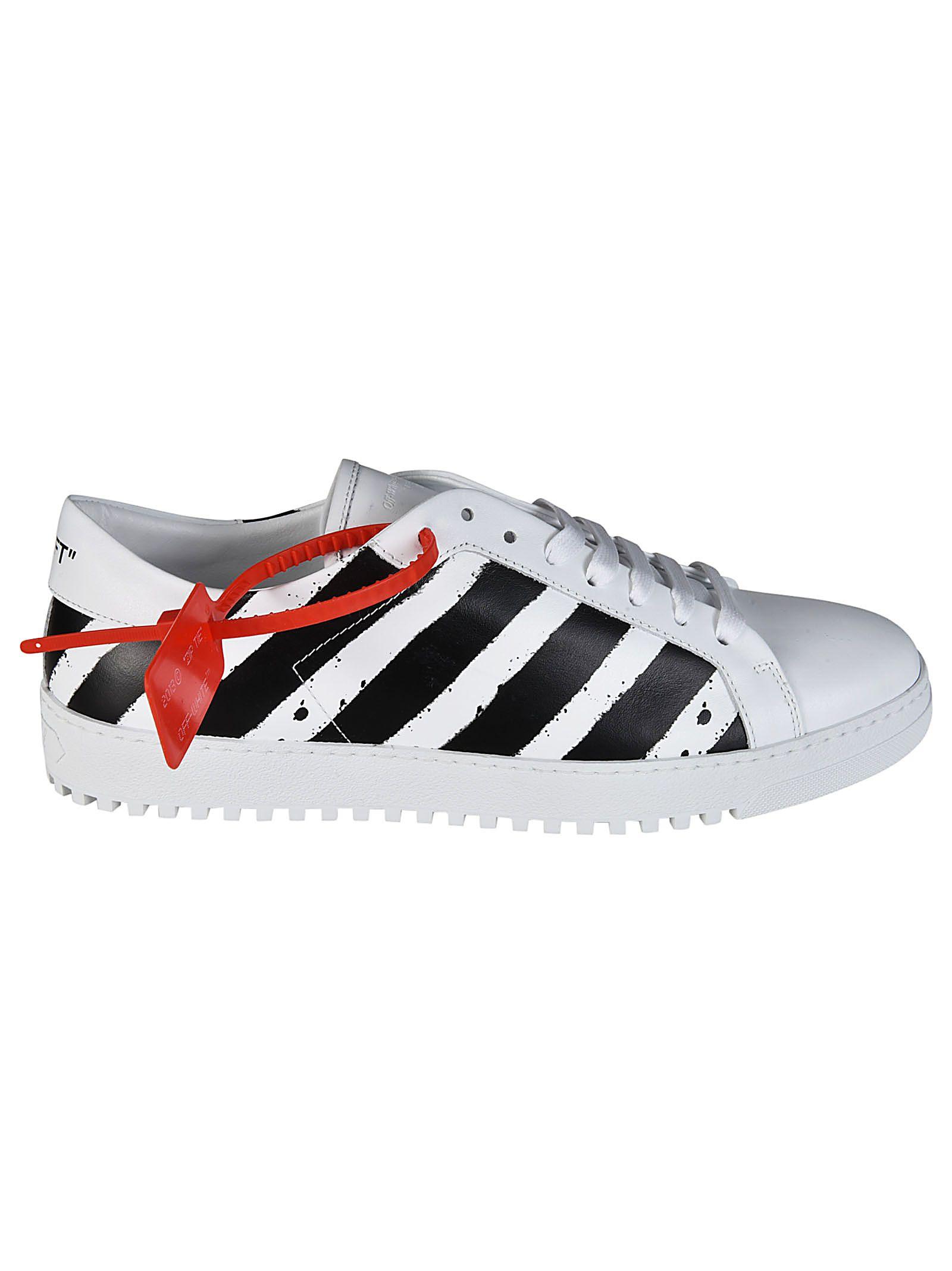 Off-white Diagonal Spray Sneakers