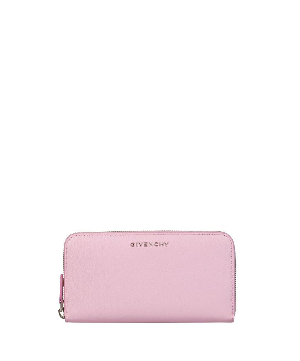 GIVENCHY Pandora Leather Wallet in Rosa