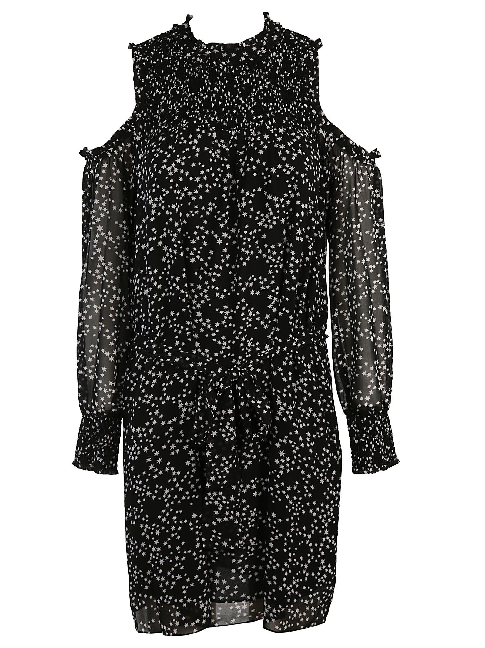 Michael Kors Star Print Cold Shoulder Dress