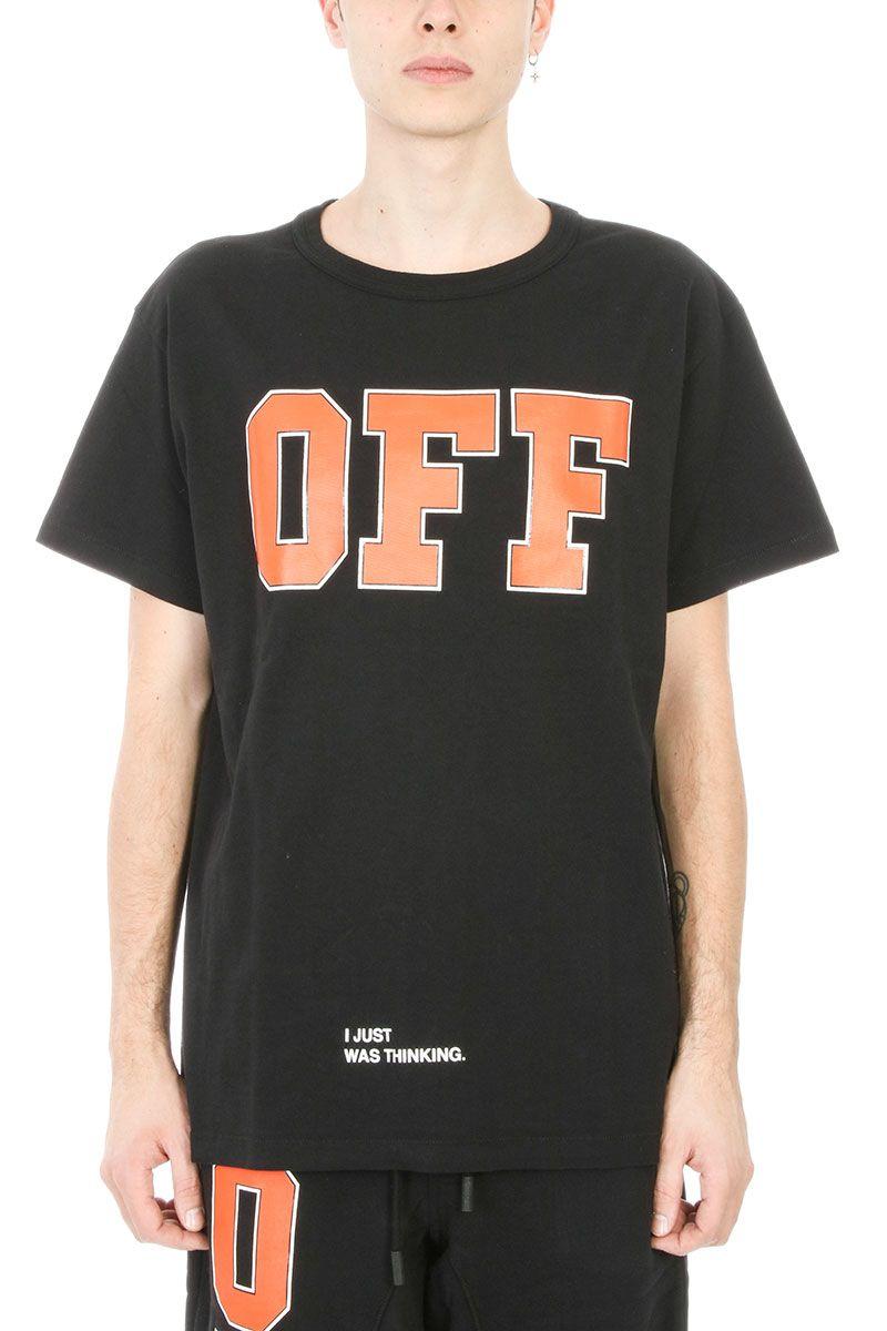 Off-White Off Black Cotton T-shirt